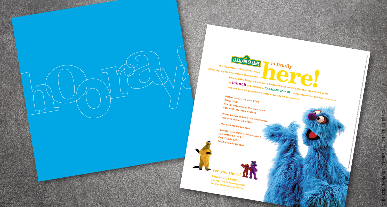 "Launch Invitation for ""Takalani Sesame"" (Sesame Street South Africa)"