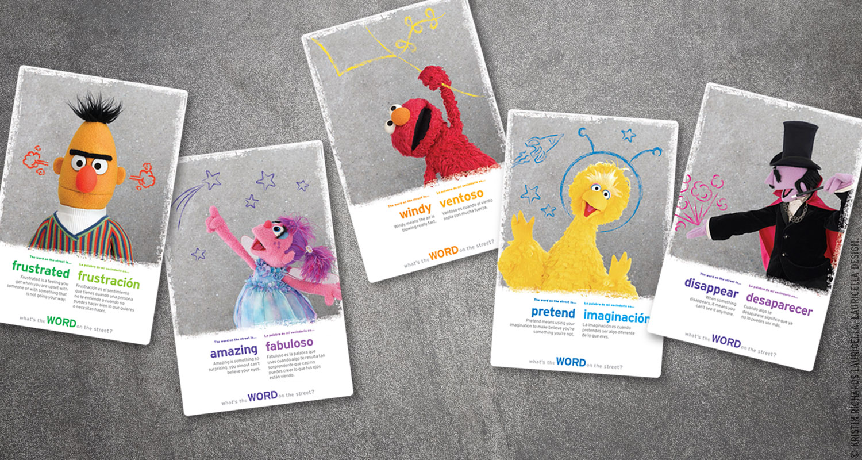 Word on the Street promotional flashcards (Sesame Street Season 38)