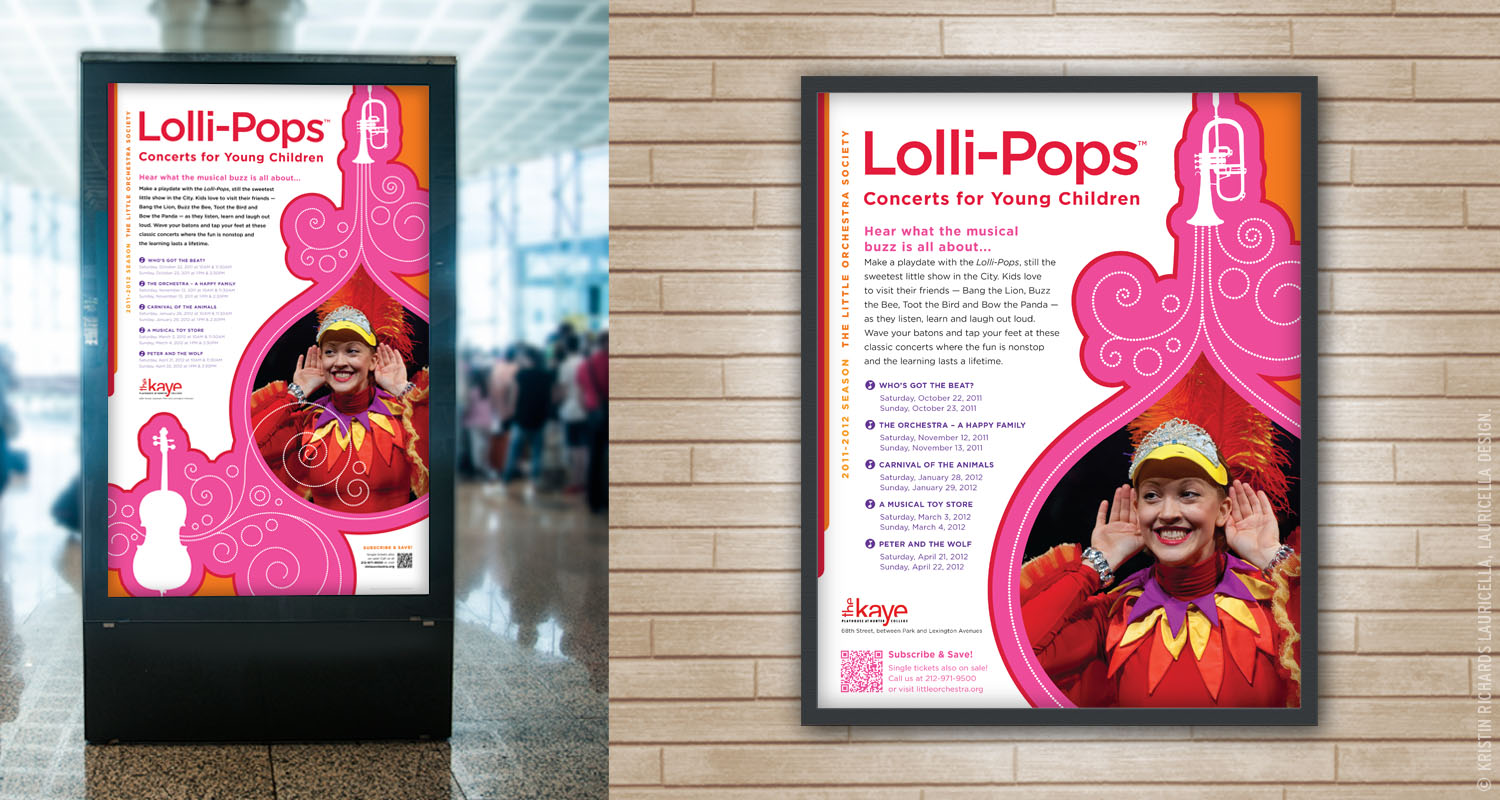 Lollipops Concerts Outdoor Signage & Poster