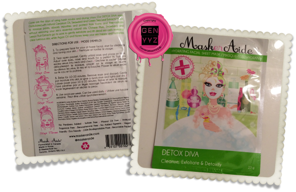 Beauty Feature: MaskerAide Facial Sheet Masks - Detox - Detox Diva - GenerationYYZ - Toronto Blog | Toronto Lifestyle Blog | Toronto Luxury Lifestyle Blog | Lifestyle Blog | Toronto's Luxury Lifestyle Blog | Toronto Blogger | Toronto Lifestyle Blogger | Blogger