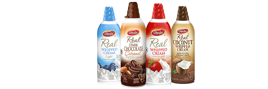 Gay Lea   has an amazing selection of   whipped creams   both dairy and dairy-free!