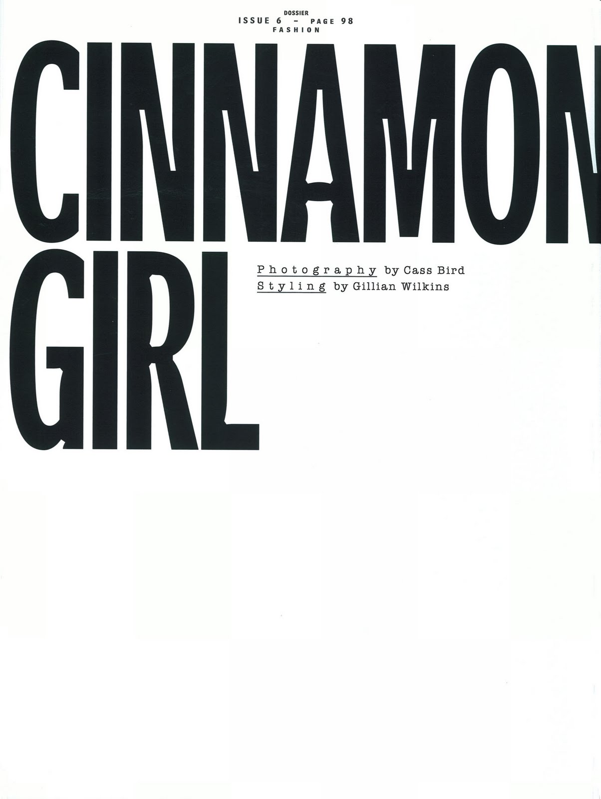 Editorial - Cinnamon Girl Dossier #6 2010 by Cass Bird 1 Ph_Cass Bird.jpg