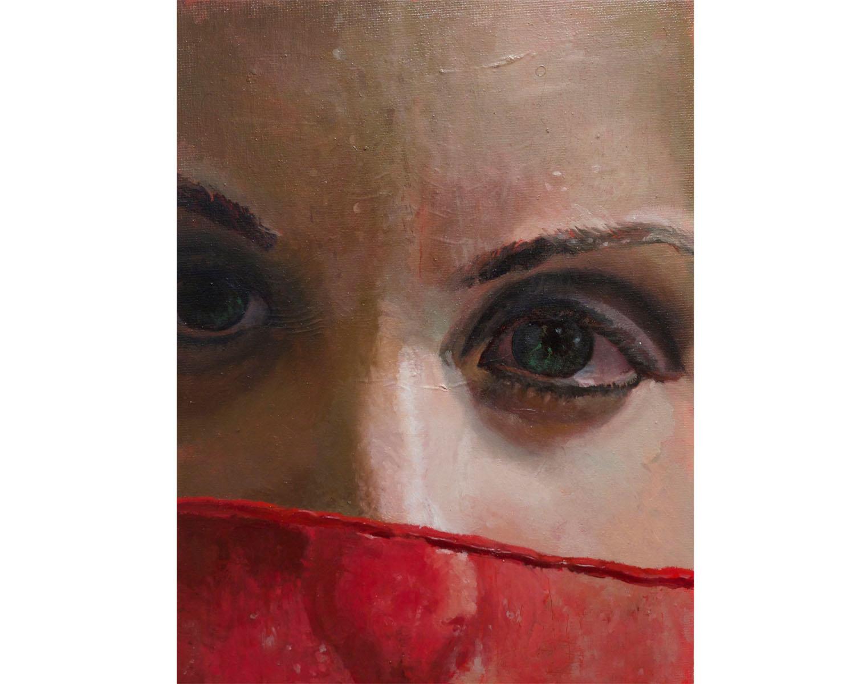 """""""Veil"""", Oil on Canvas, 11'' x 14'', 2015"""