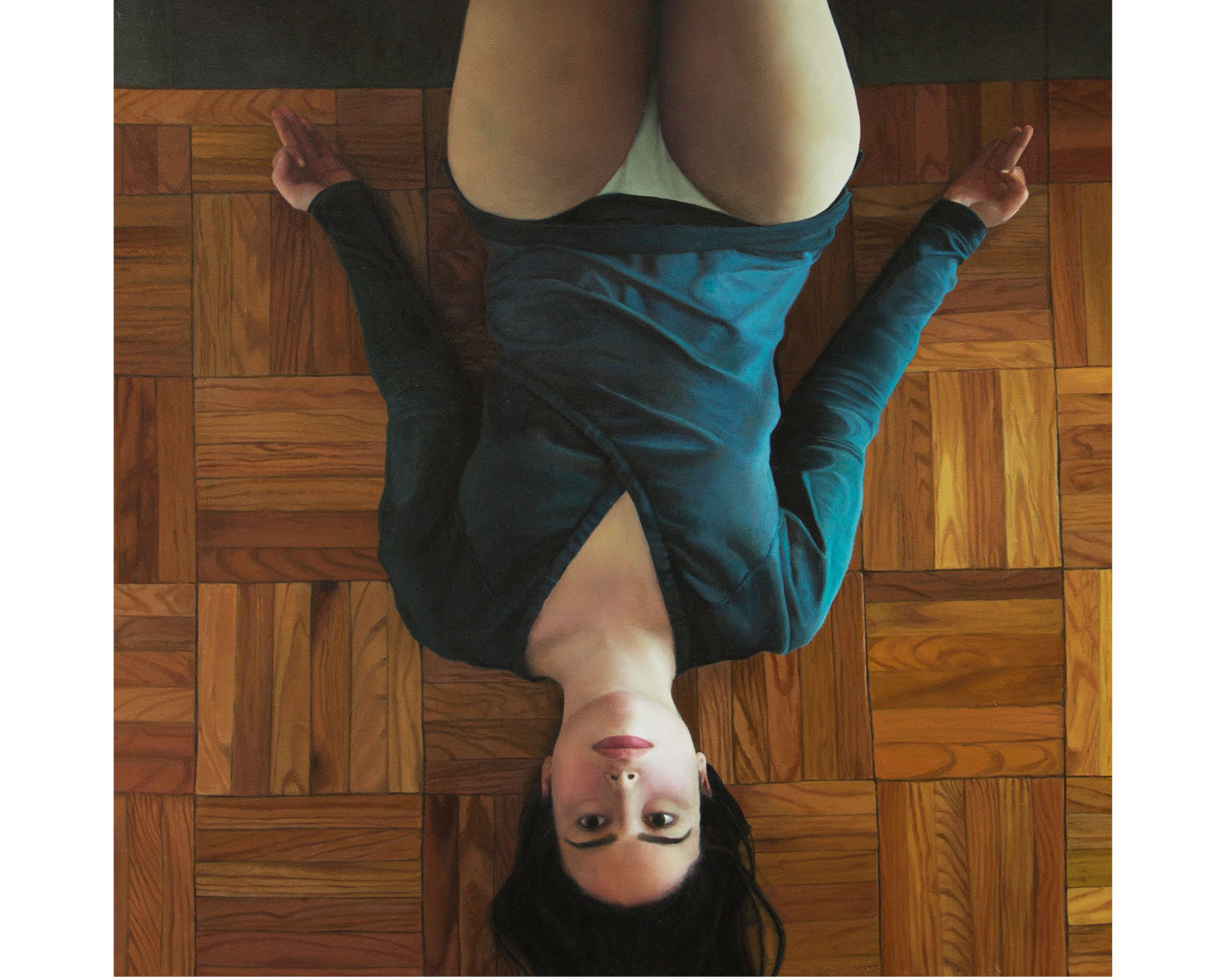 """""""Upside Down"""", Oil on Canvas, 36"""" x 36"""", 2013"""