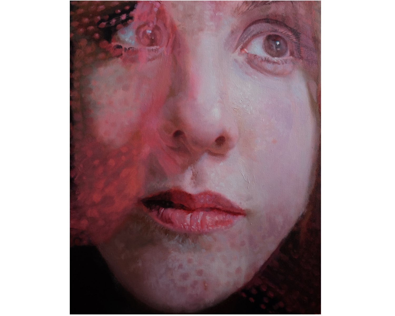 Pink Veiled, Oil on Canvas, 16'' x 14'', 2016