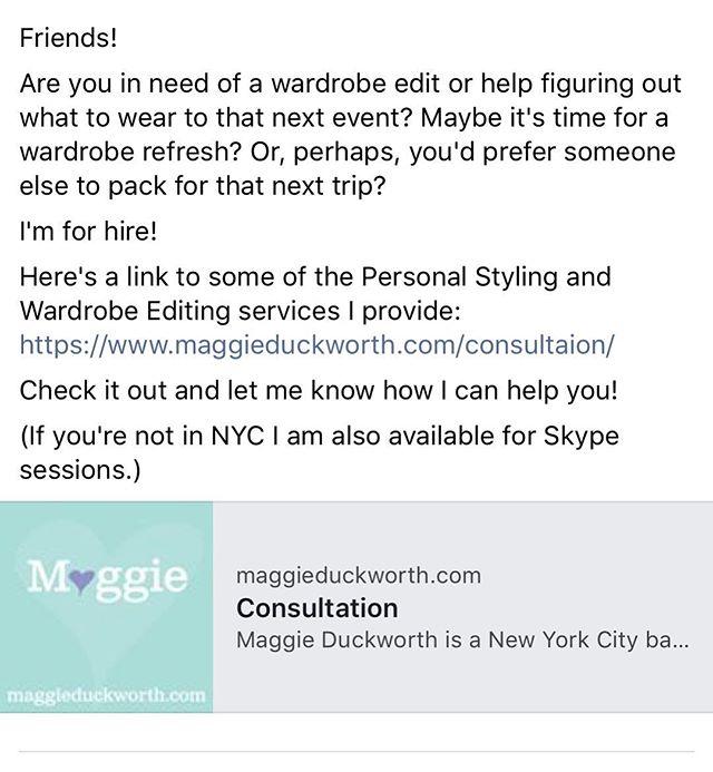 Link in @maggieduckworthstyle bio.  #wardrobeeditor #fashionstyling #packingfortrips #dressingforsuccess #chasingfashion