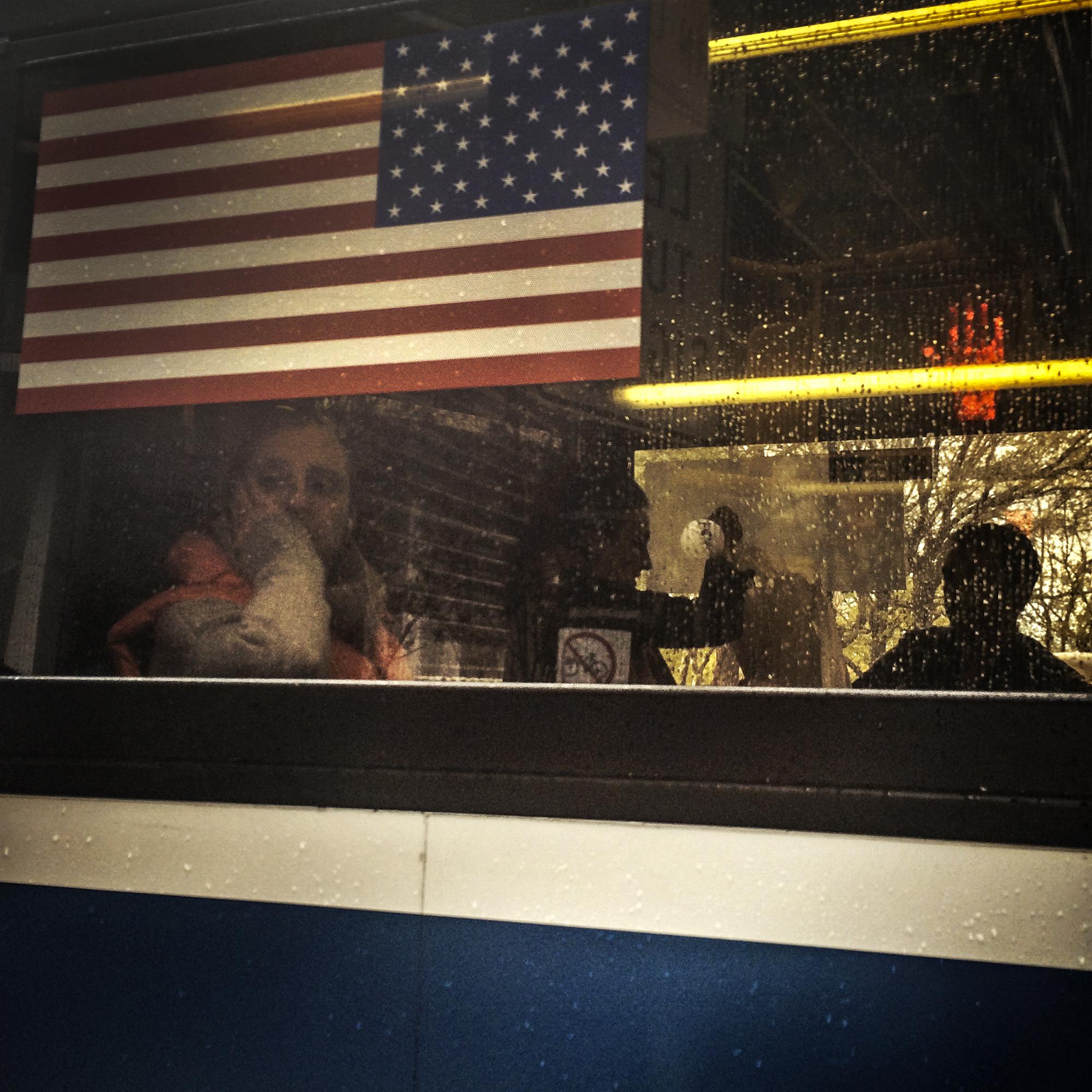 Passing Bus, Midtown, 2014