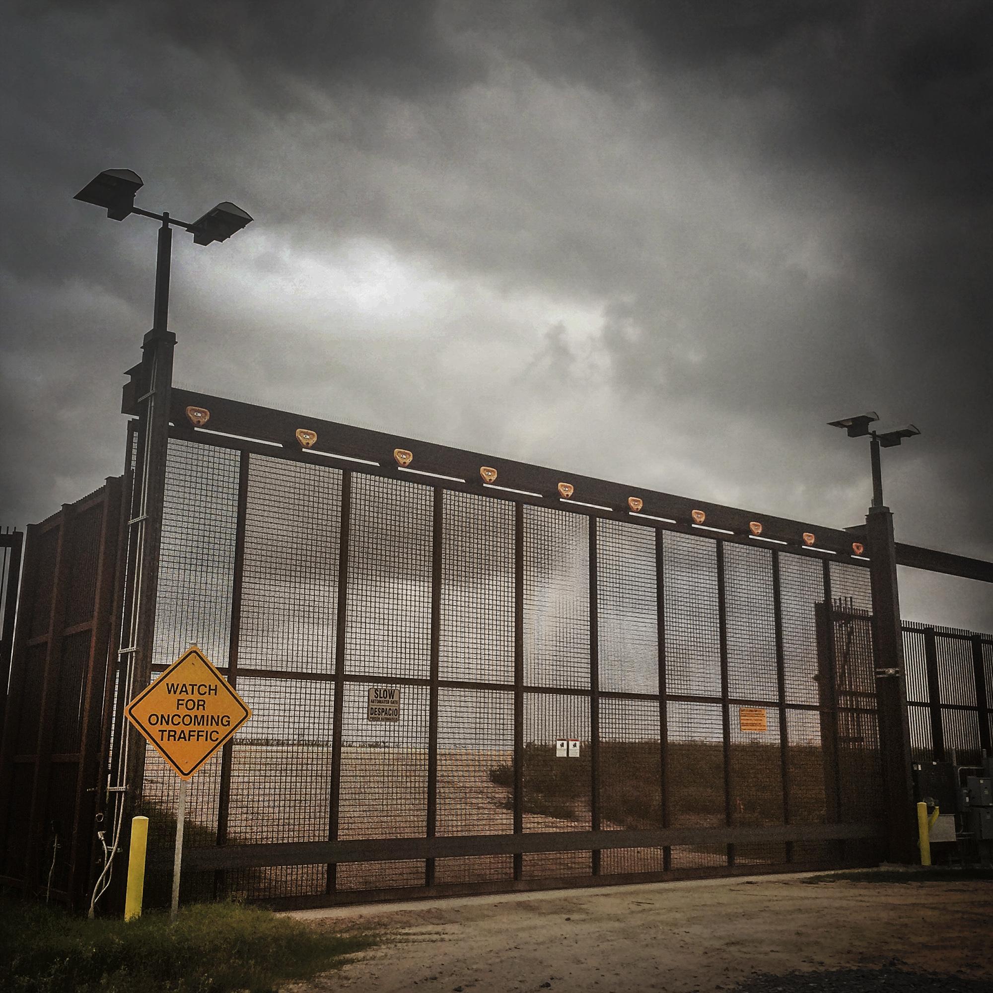 Border Fence between McAllen and Brownsville, Texas, 2014