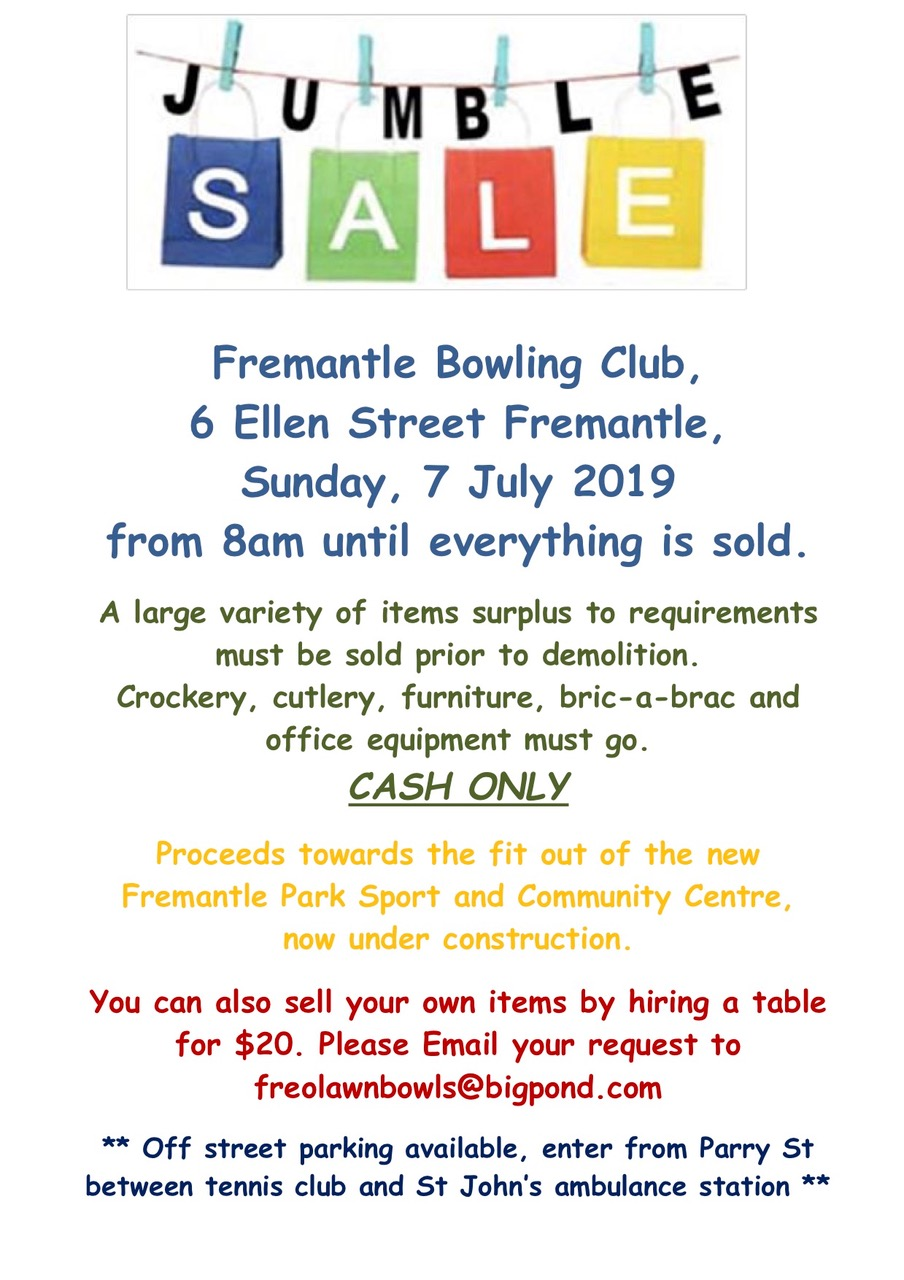 Flyer Jumble Sale at Fremantle Bowling Club July 7.jpeg