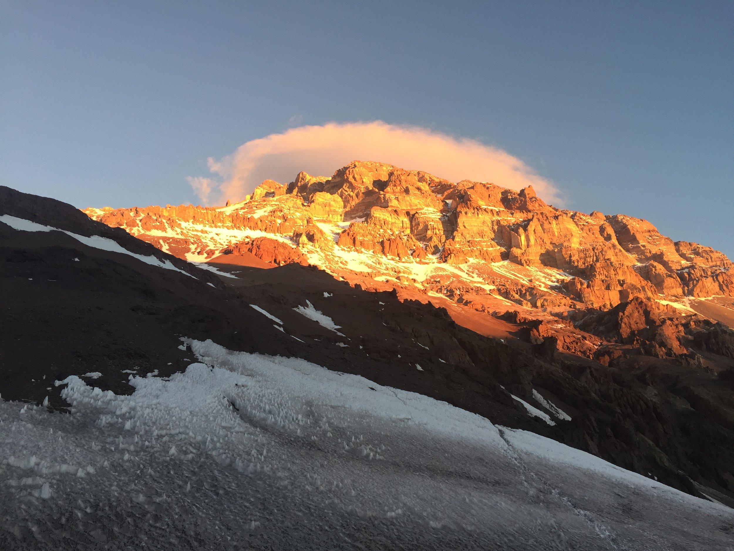 Last sunset on the mountain