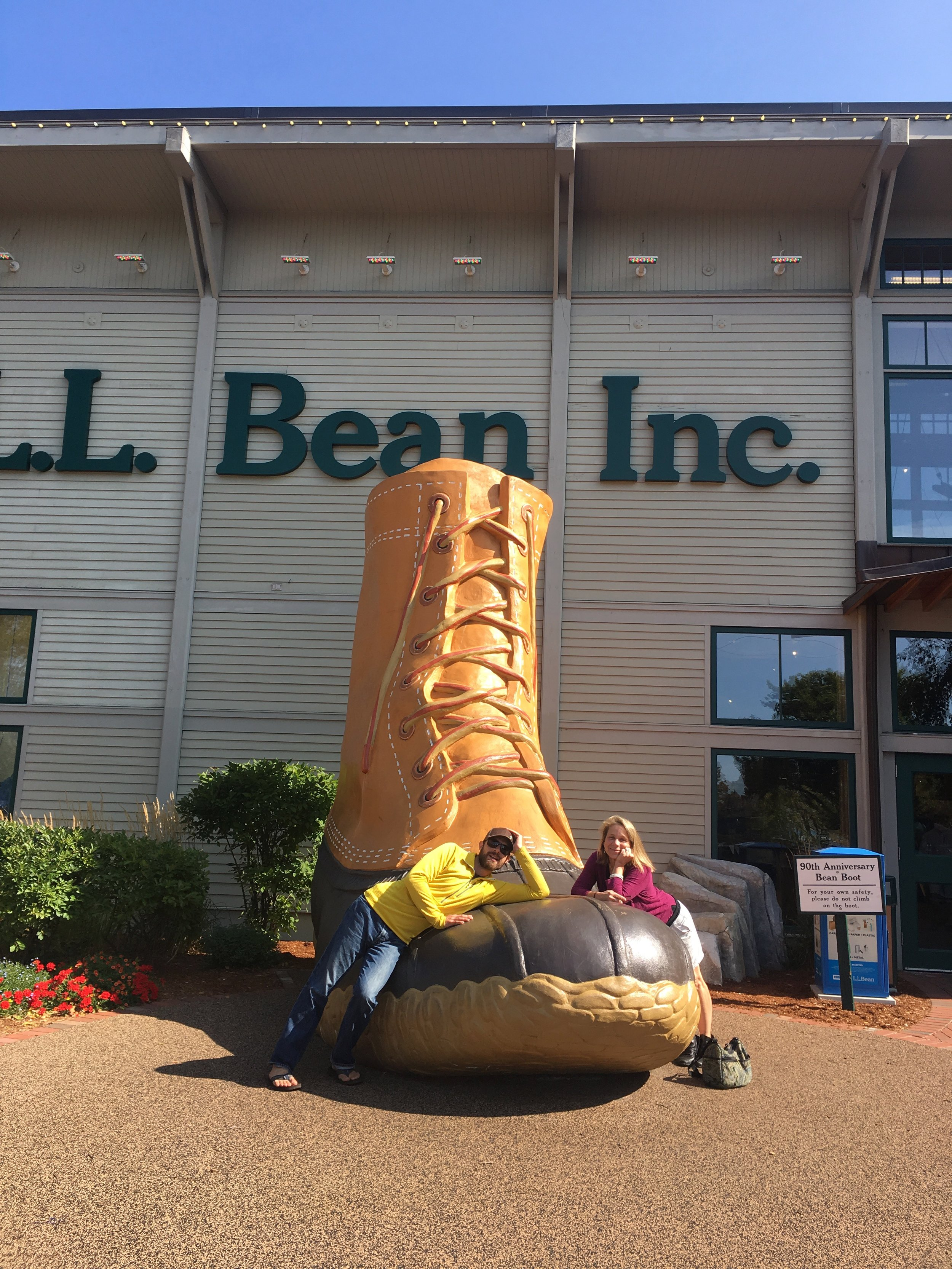 Hanging with the family at L.L. Bean