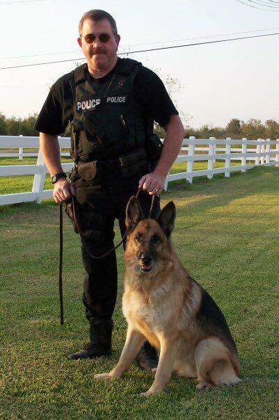 Union Pacific Railroad Special Agent RC Langford and K-9 Carin assigned to Houston, TX.