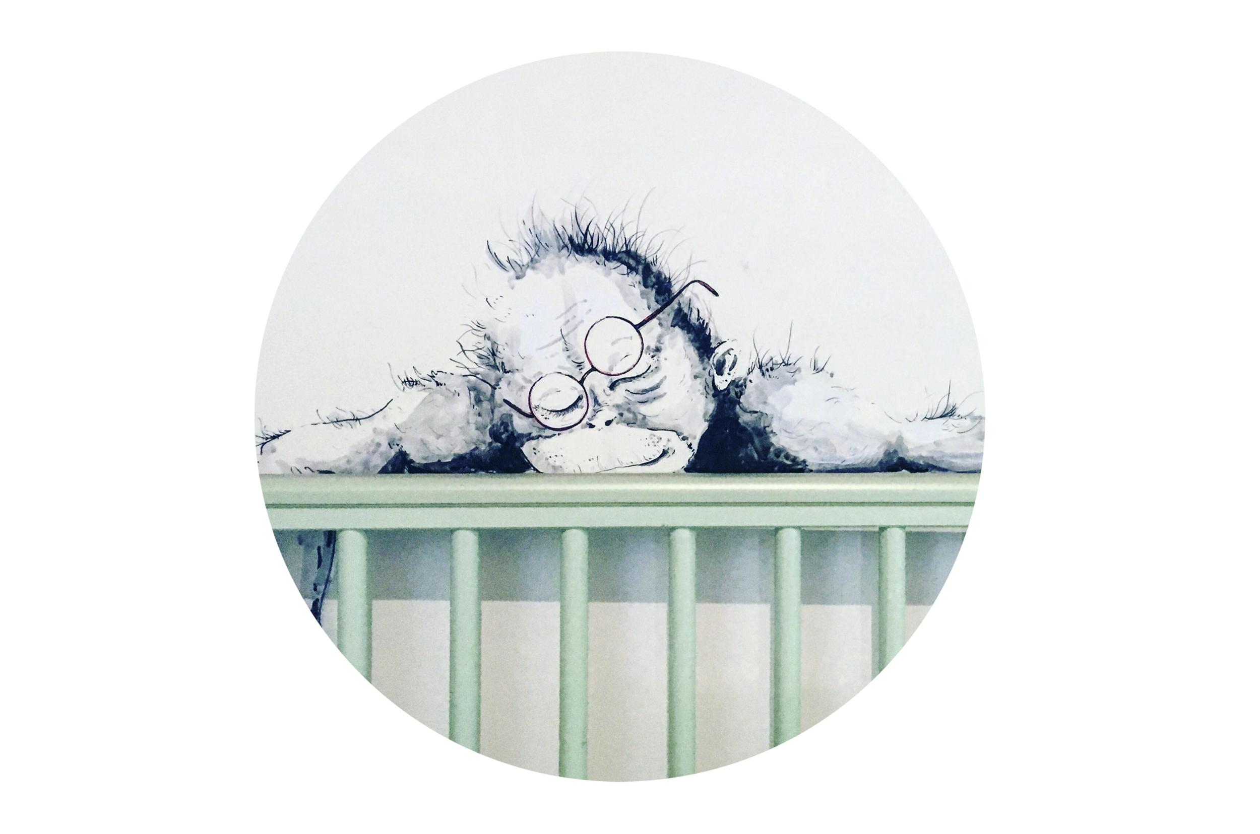 Elsa Jeandedieu Studio wall painting