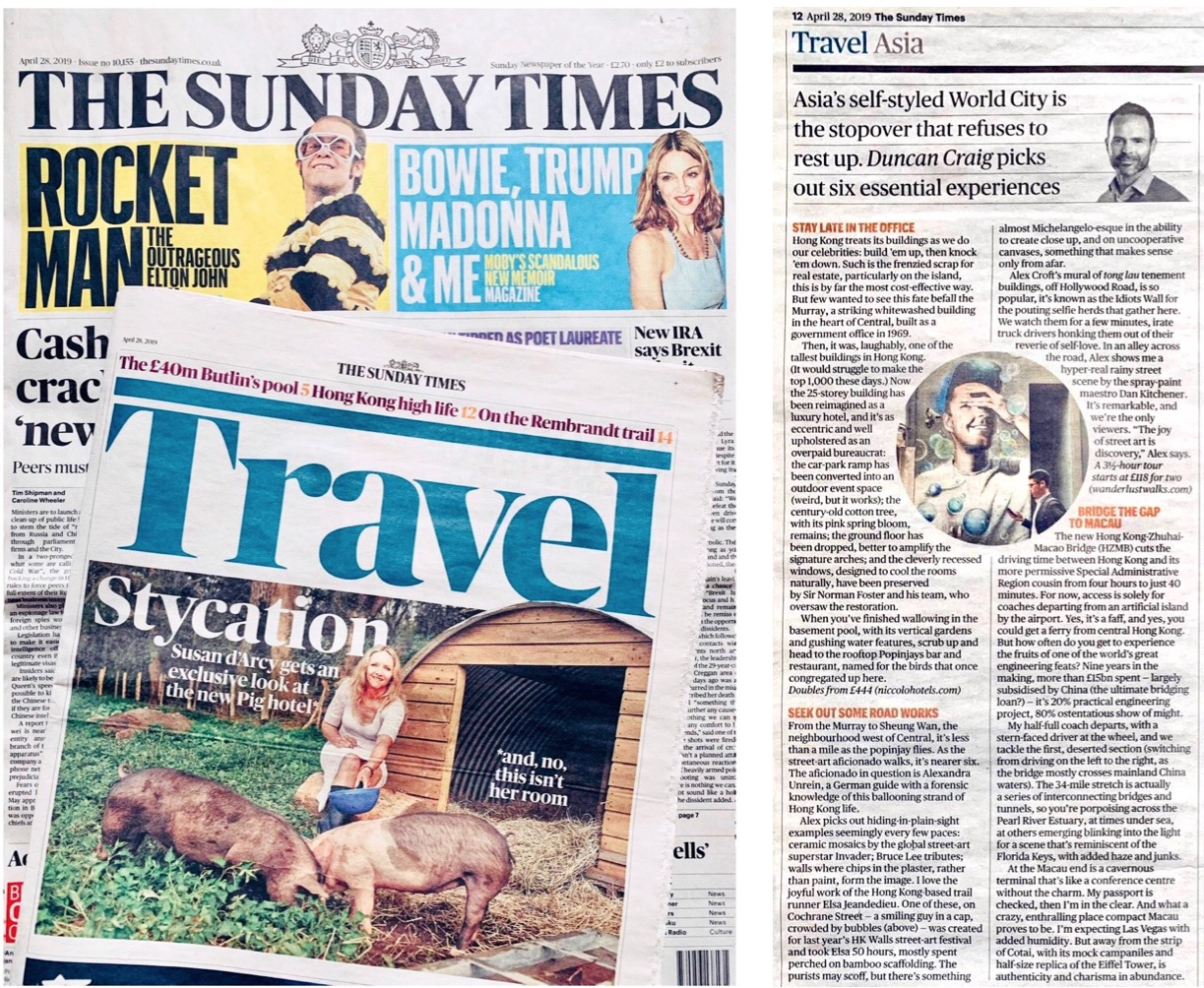 The Sunday Times, April 2019