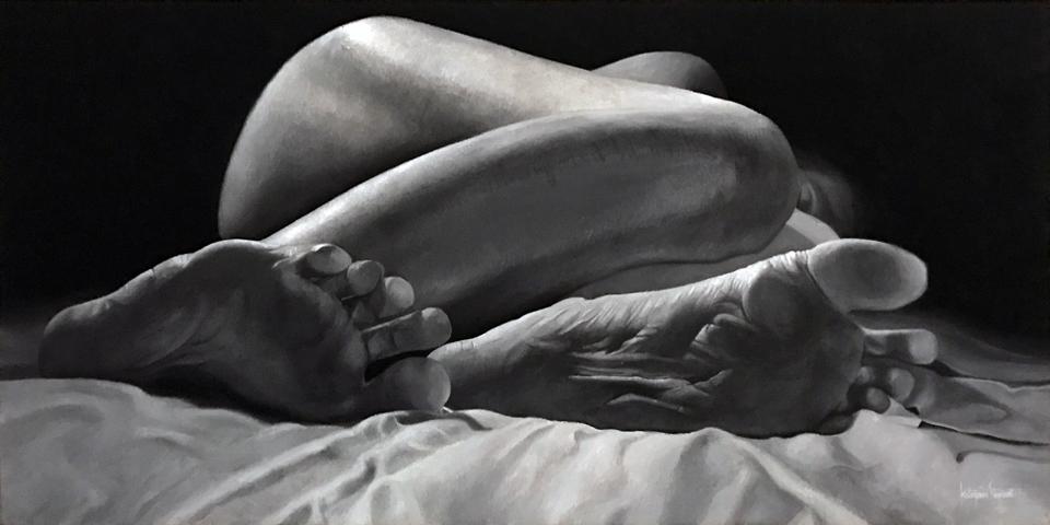 """Asleep 20"""" x 40"""" Oil on Linen"""