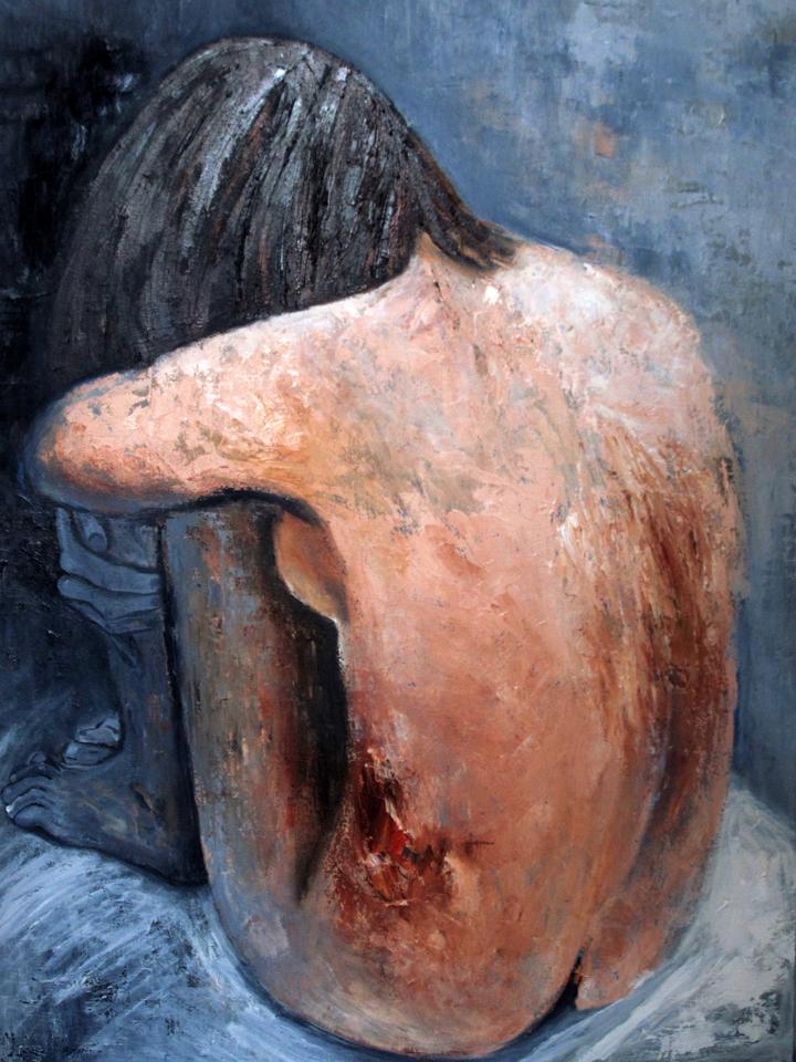 "Unattractive Truth 48"" x 36"" Oil on Canvas"