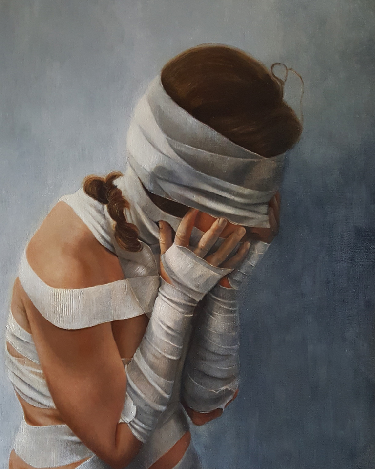 """Unstable Condition 30"""" x 24"""" Oil on Linen"""