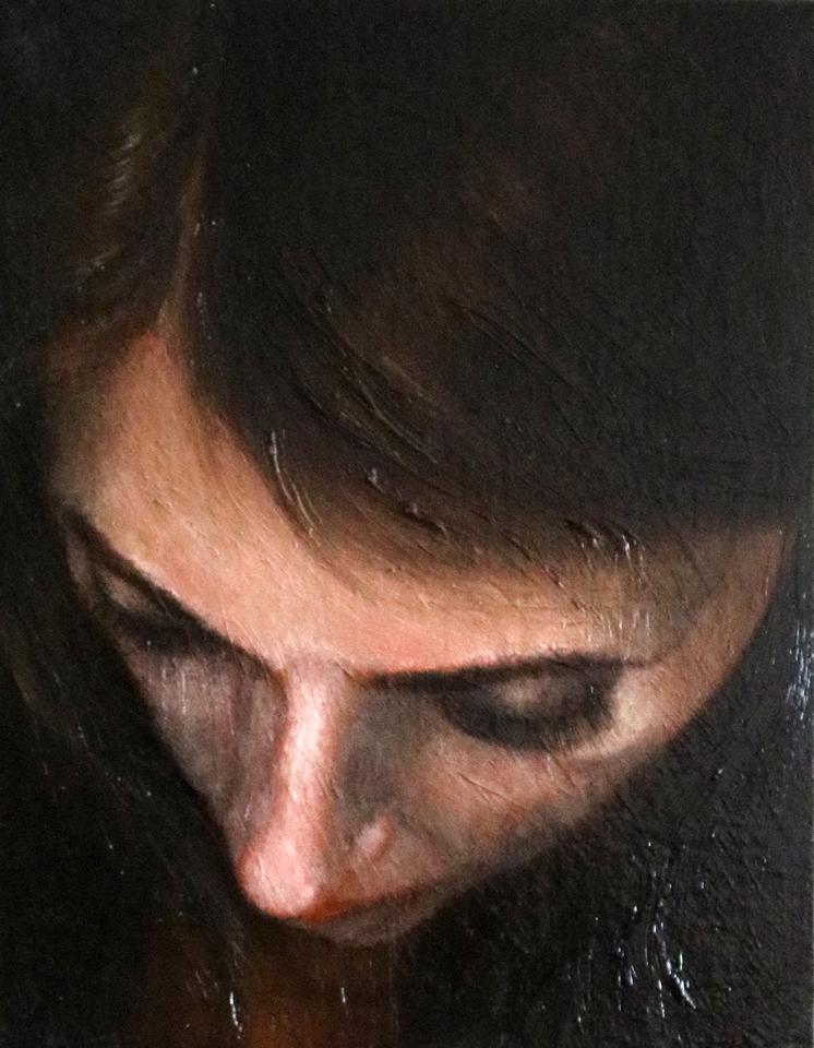 """Self 14"""" x 11"""" Oil on Linen"""