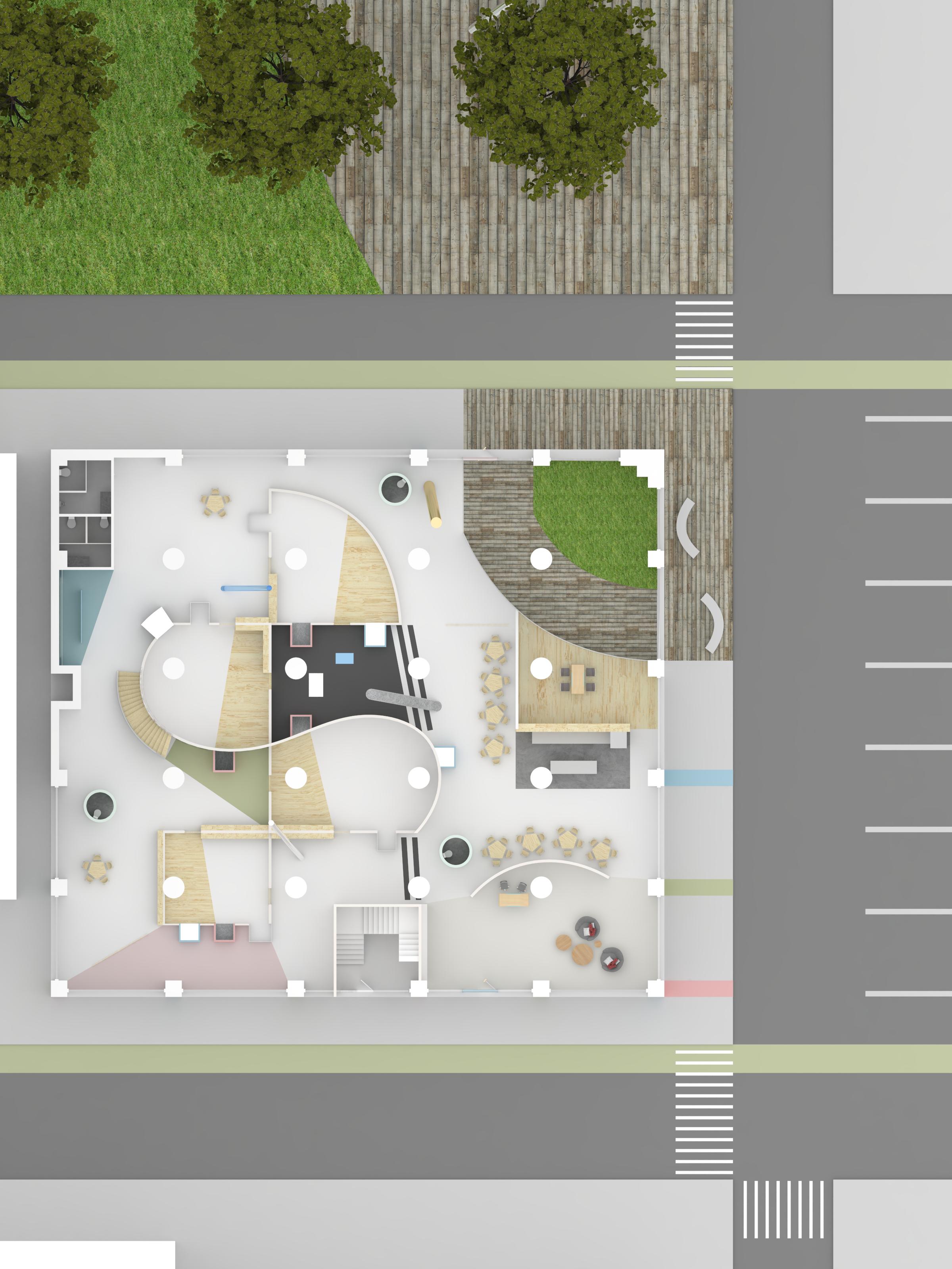 1st floor rendered plan