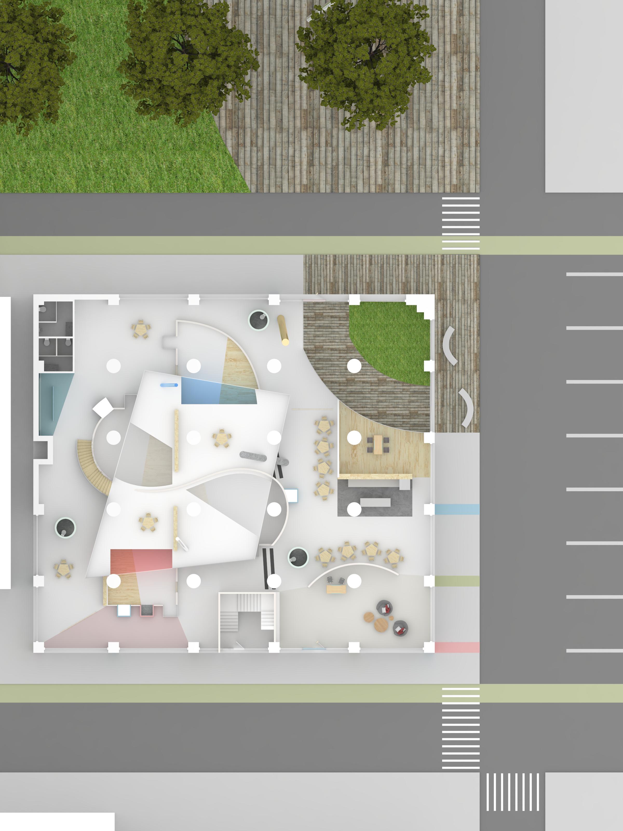 2nd floor rendered plan