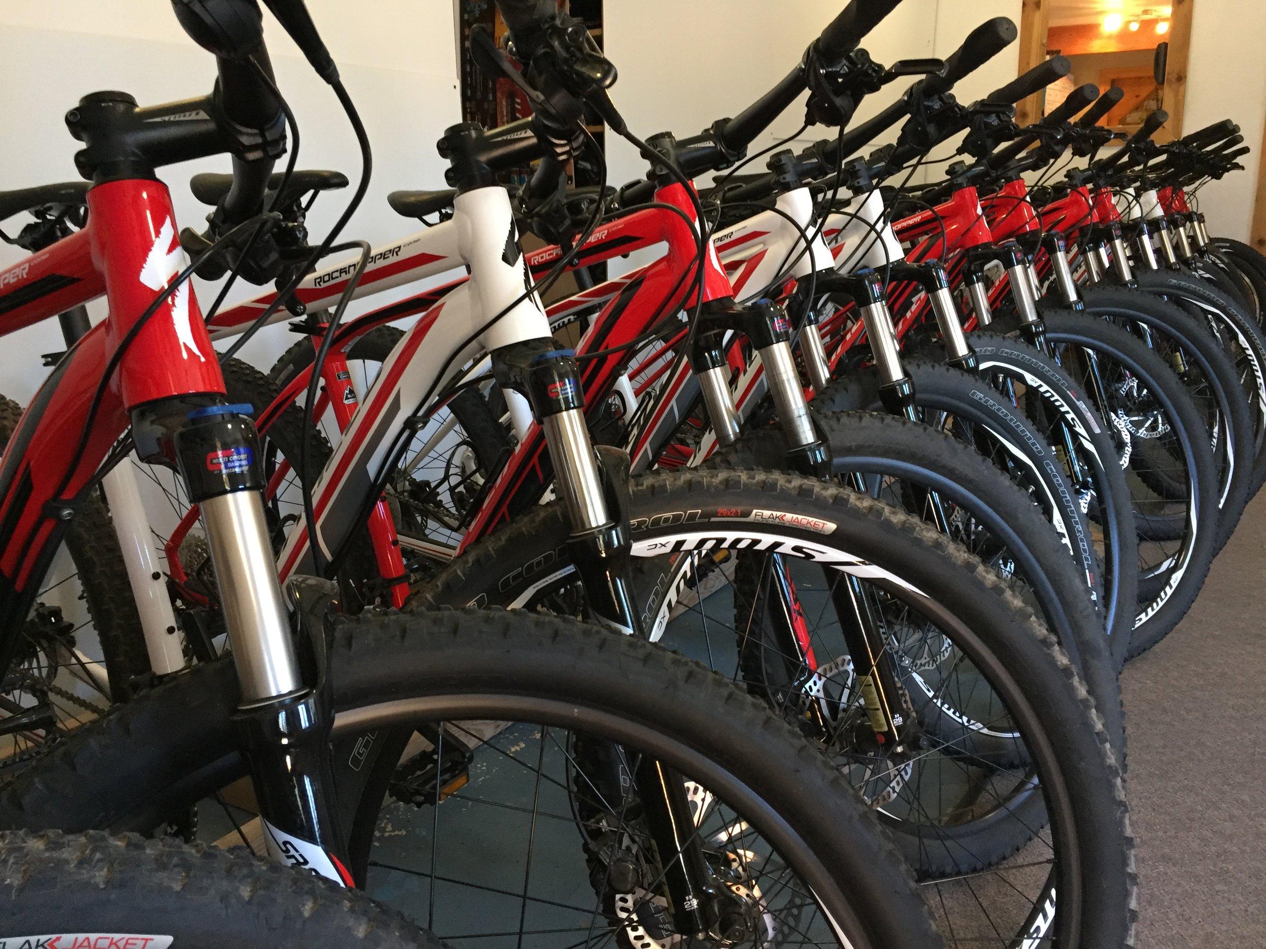 Tahoe Adventure Company Mountain Bike Fleet