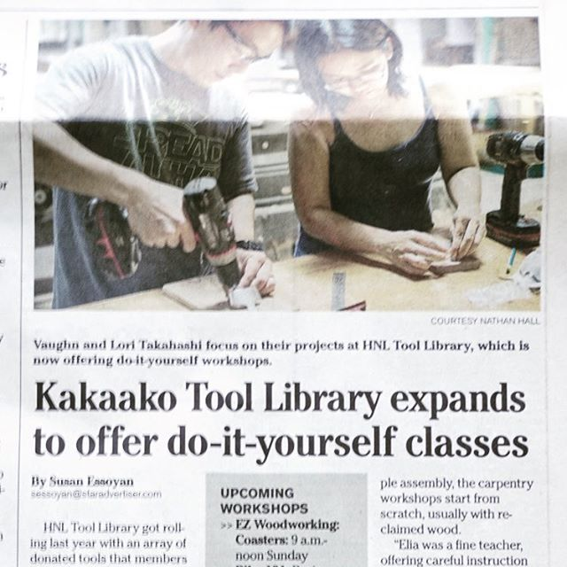 HNL Tool library on Honolulu Star-Advertiser - Nov 18, 2017