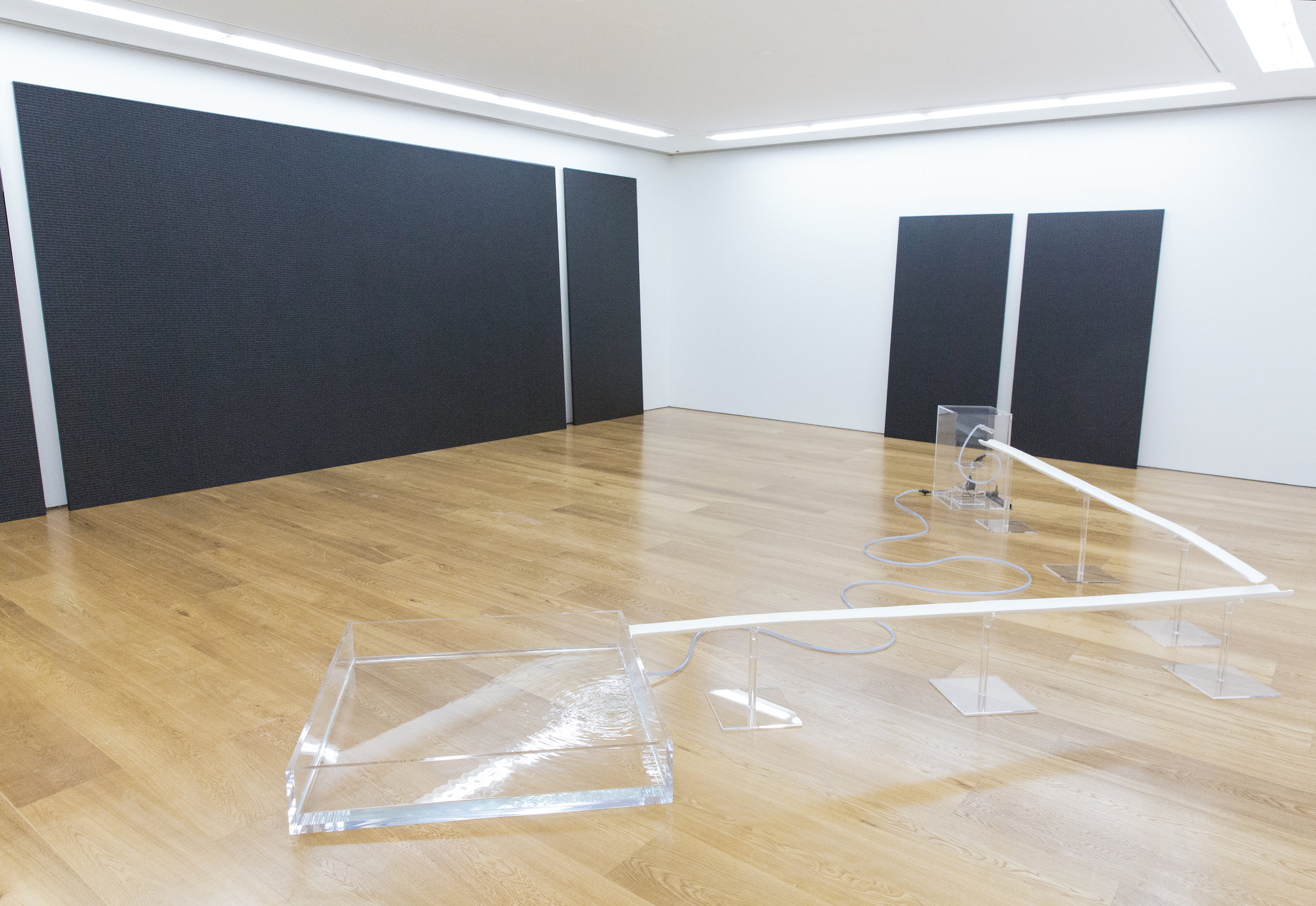 Installation view of Maria Taniguchi's exhibition at Galerie Perrotin, Hong Kong, 2016. Courtesy the artist and Galerie Perrotin.