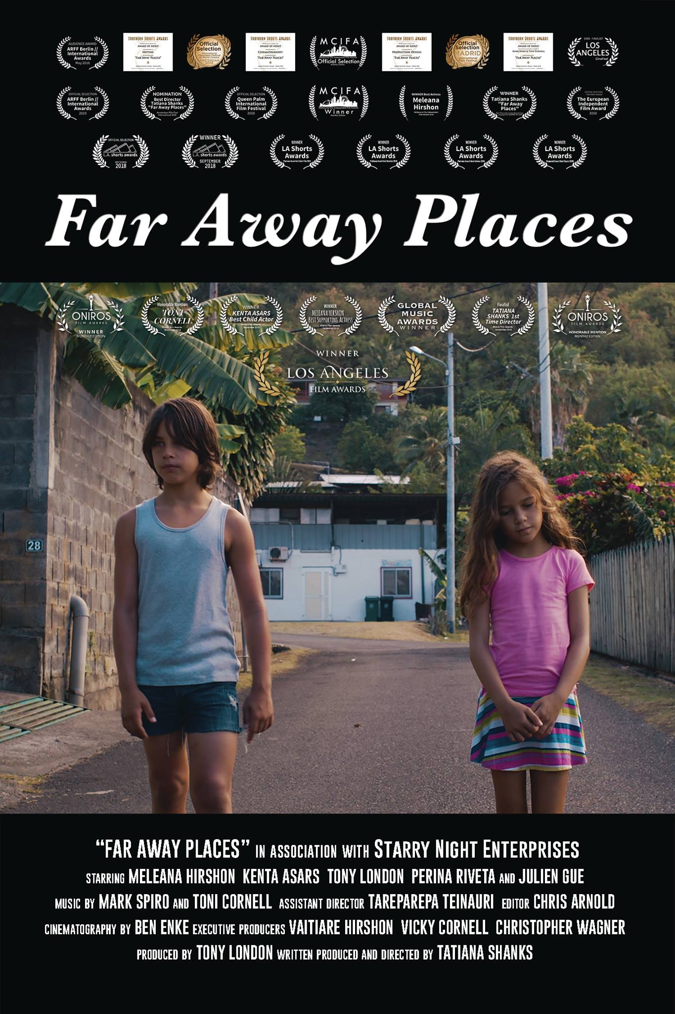 Far Away Places received 23 awards all around the world. - Tatiana was 18 years old.