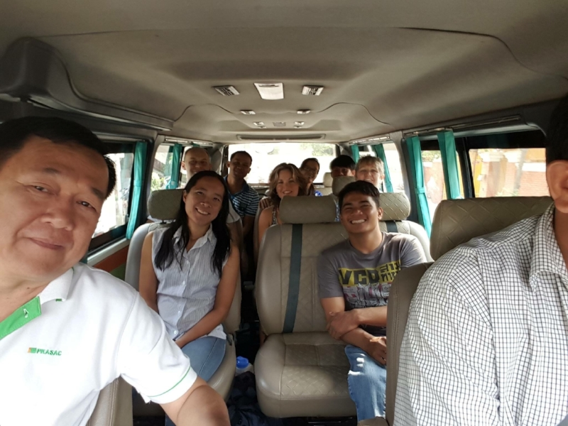 Three hours in the van to Kep