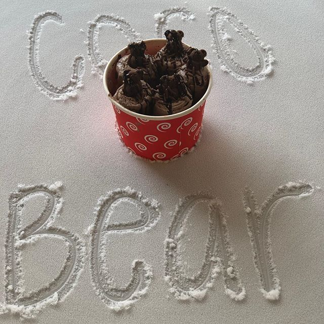 Come try our flavor of the day! The CoCo Bear! #cocobear #chocolate