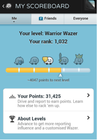 "(Scoreboard found in navigation app, ""Waze"" via Google Image)"