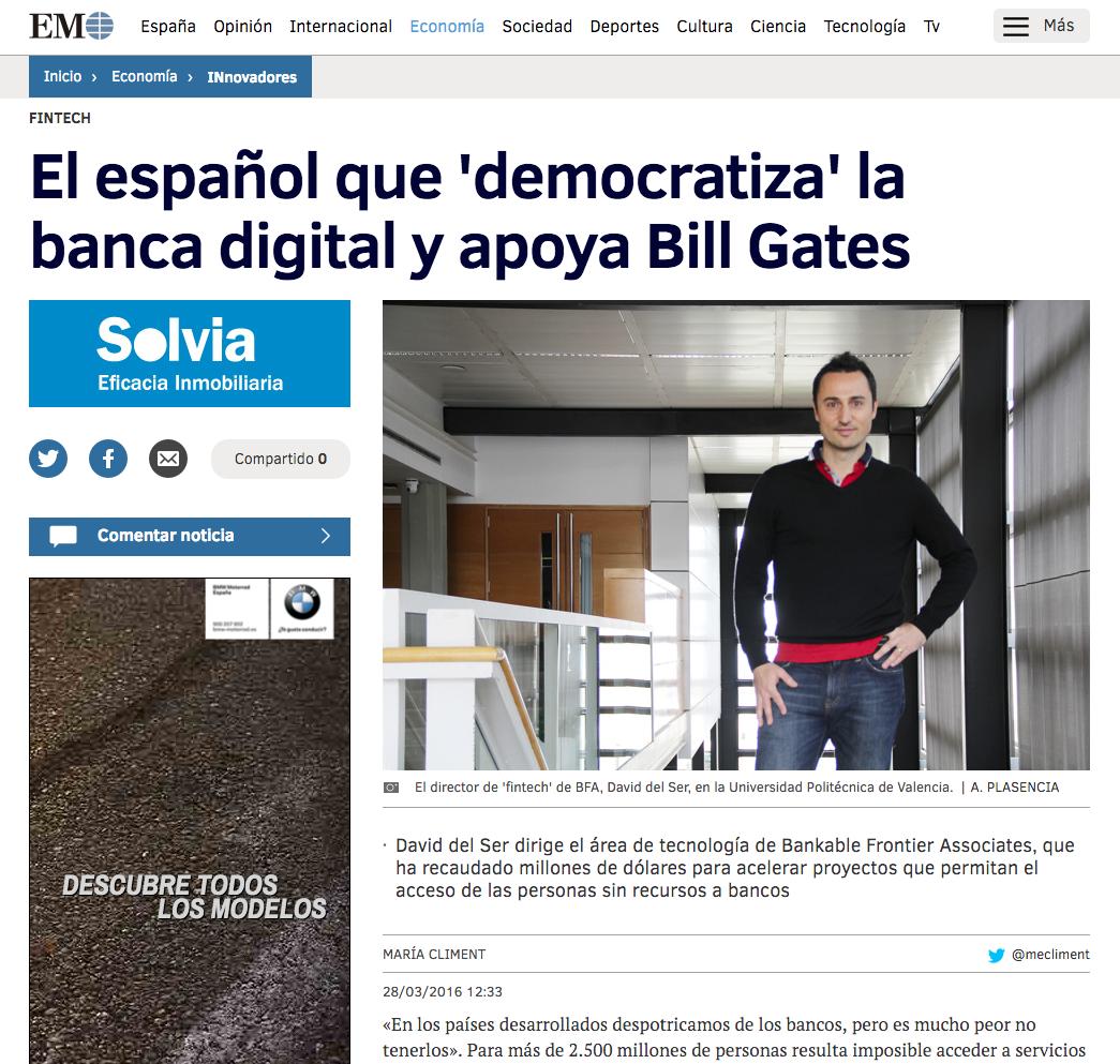 Catalyst Fund in El Mundo Newspaper
