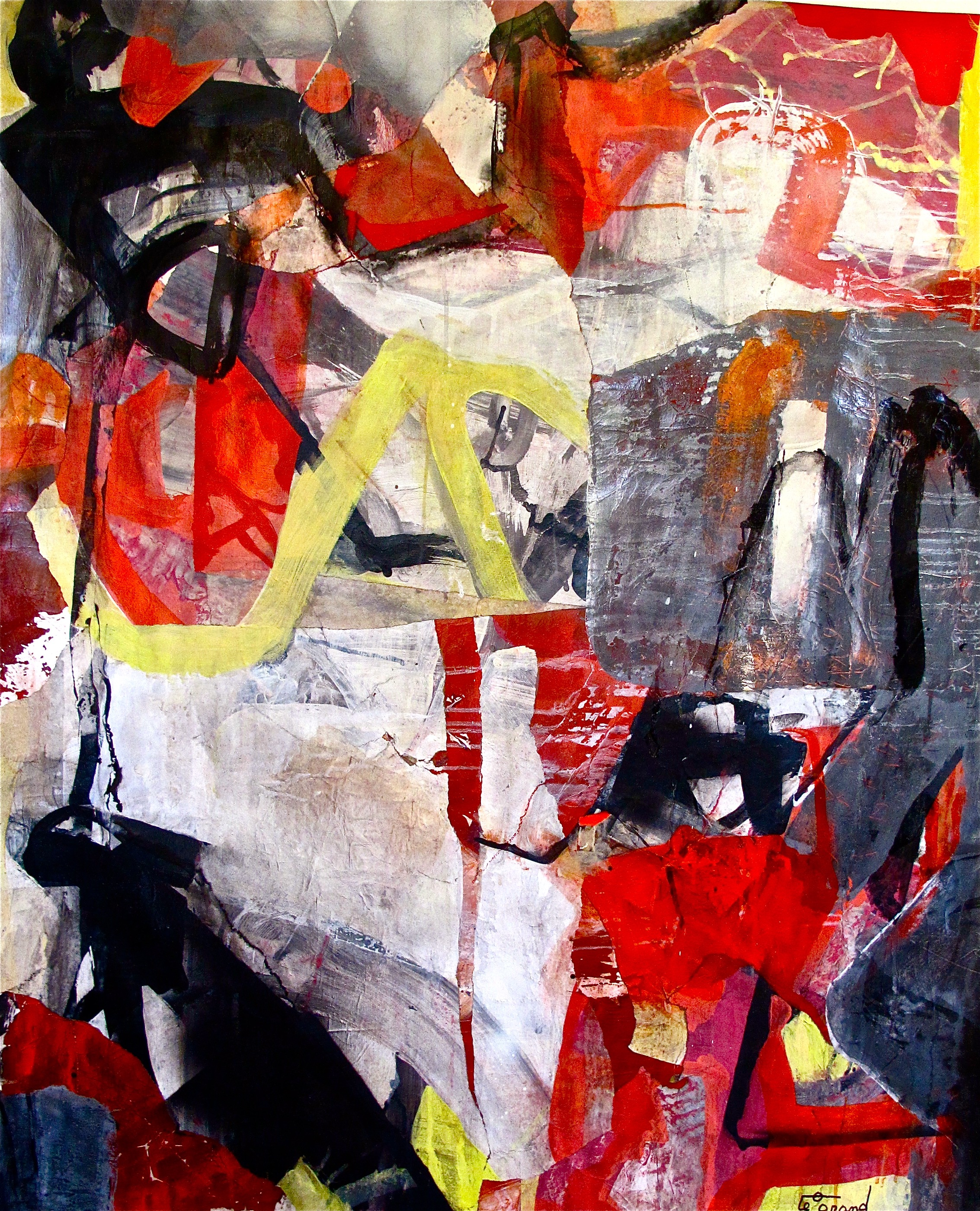 """BENNY GOODMAN""   150 x 143 cm  acrylique et collages"