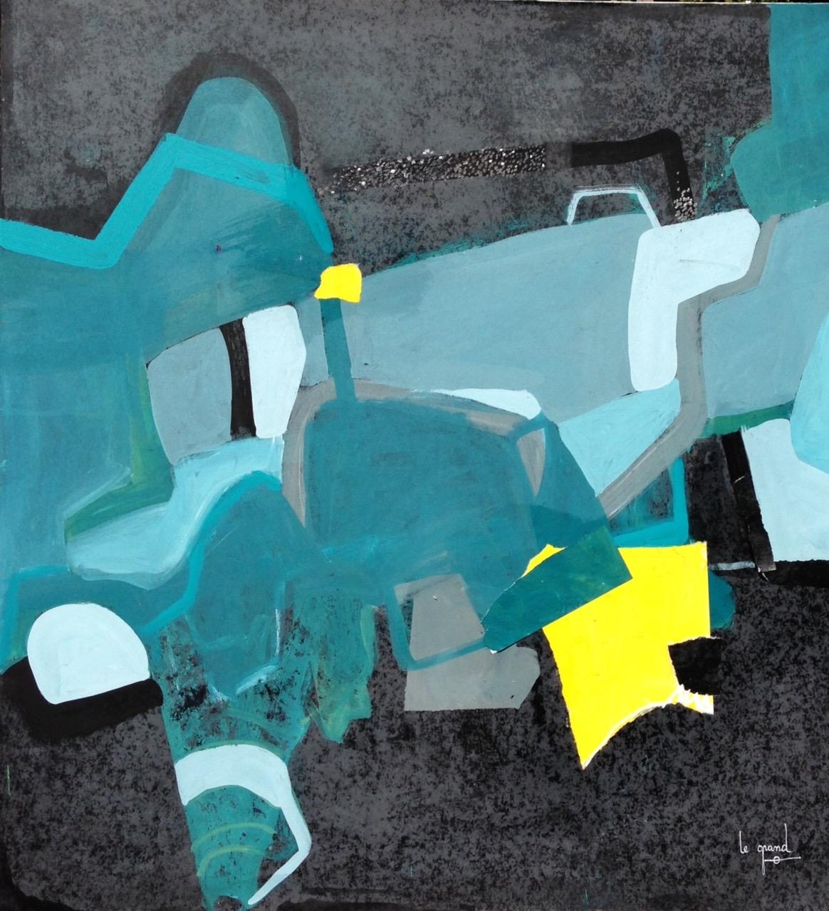 """""""MILLE ET UNE NUITS """"   100 x 100 cm  acrylique"""