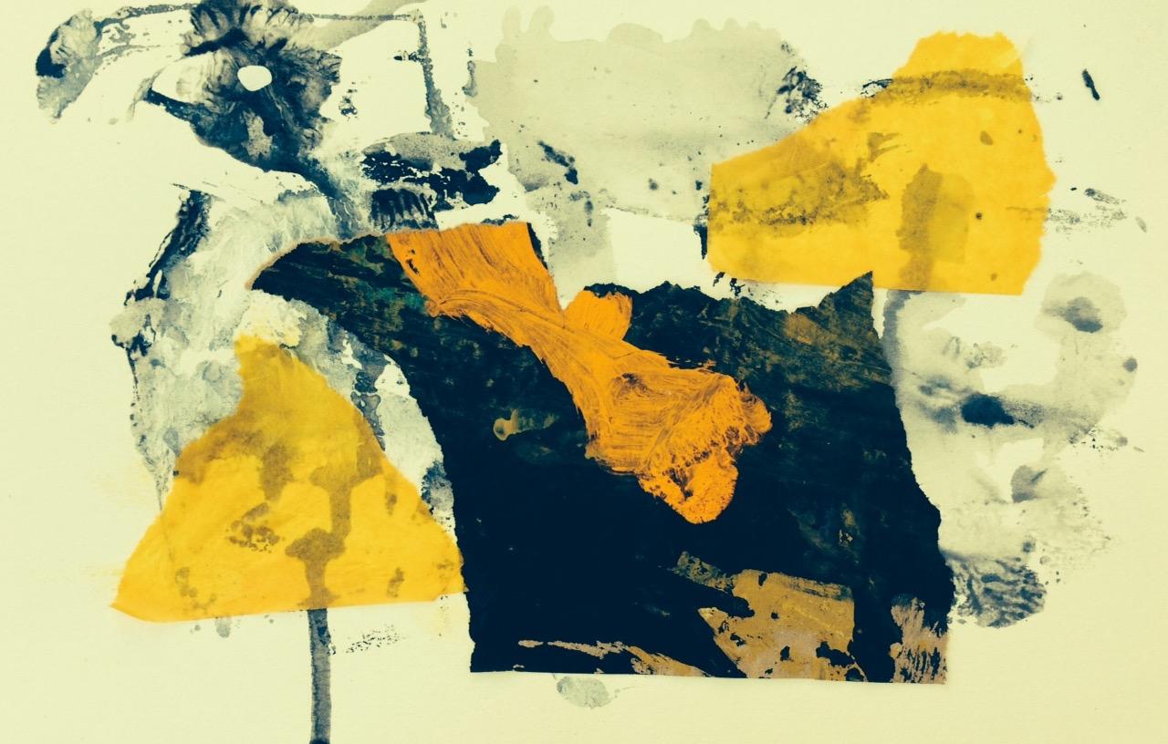 """"""" la poule""""  16 x 24 cm , collages"""