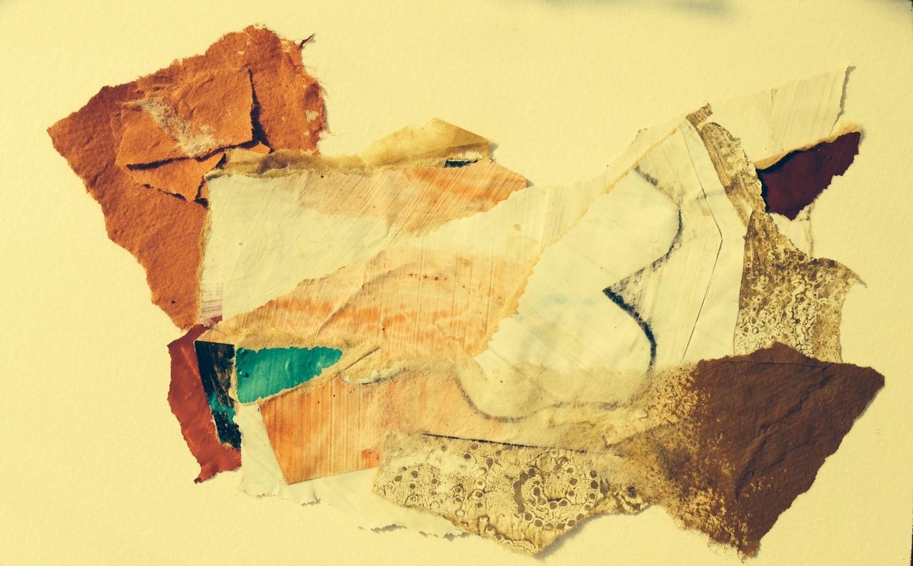 """"""" julie """"  16 x 24 cm collages"""