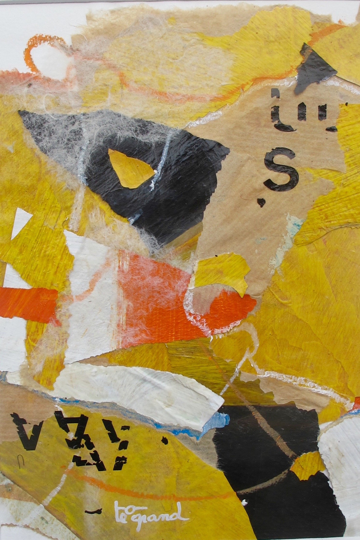 """ S ""  16 x 24 cm , collages"