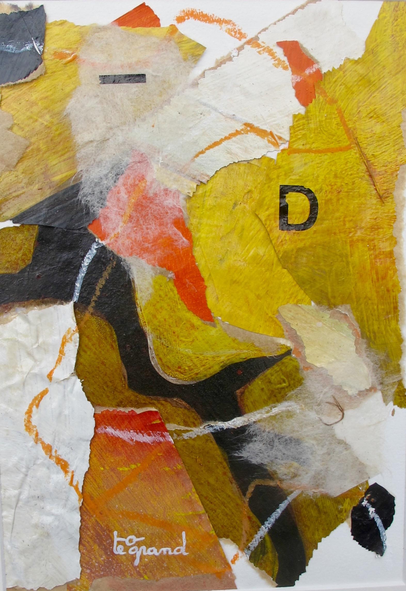 """"""" D """"  20 x 15 cm , collages"""