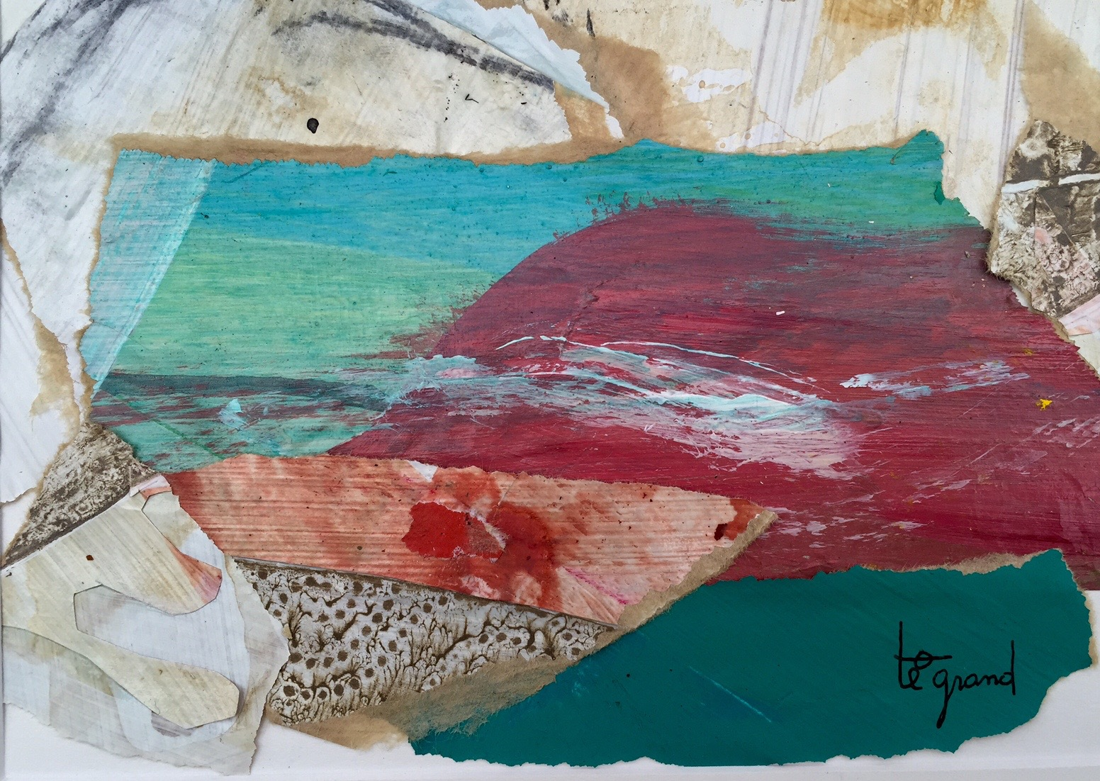 """ rochers ""  20 x 15 cm , collages"