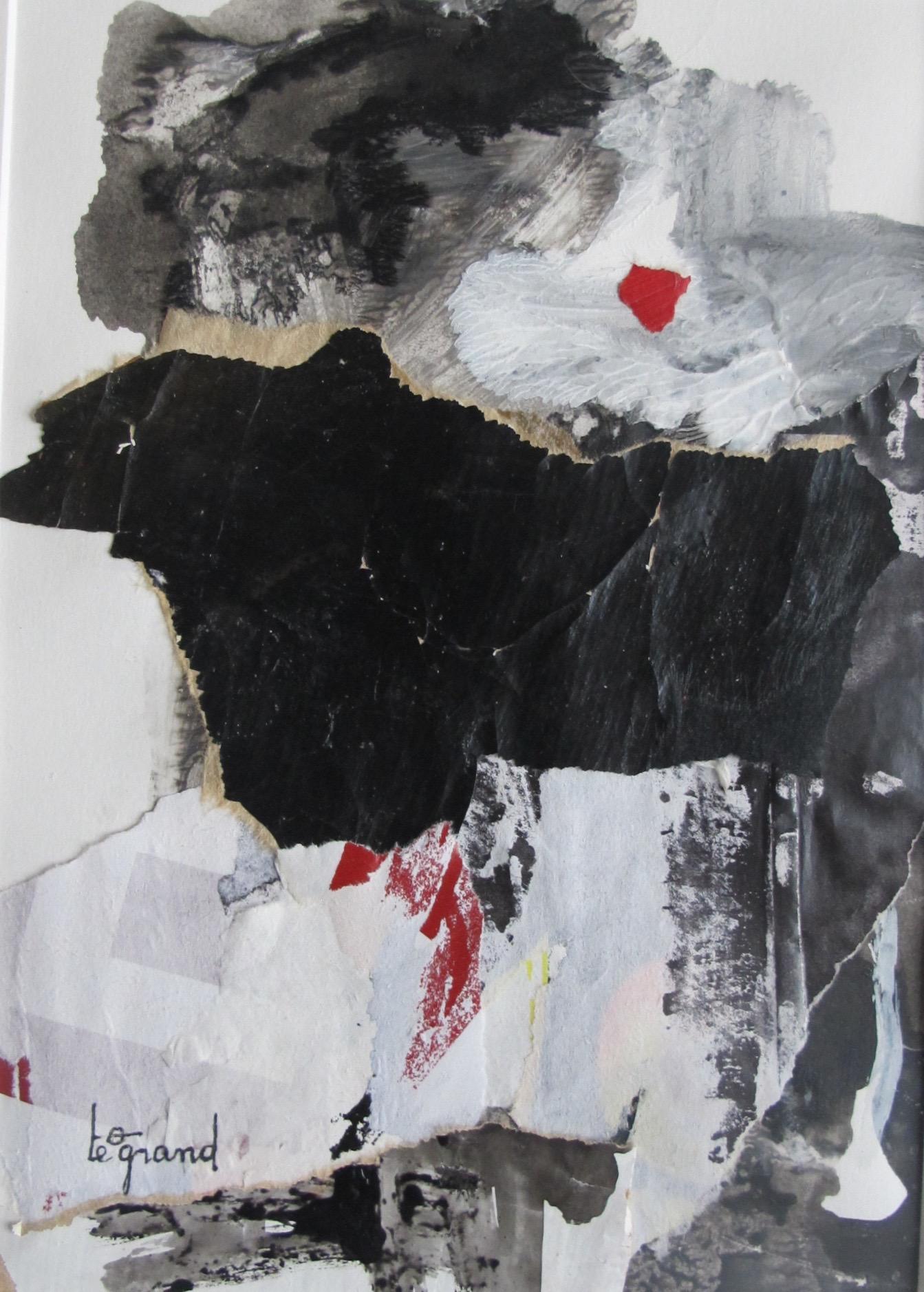 """"""" ailleurs """"  20 x 15 cm , collages"""