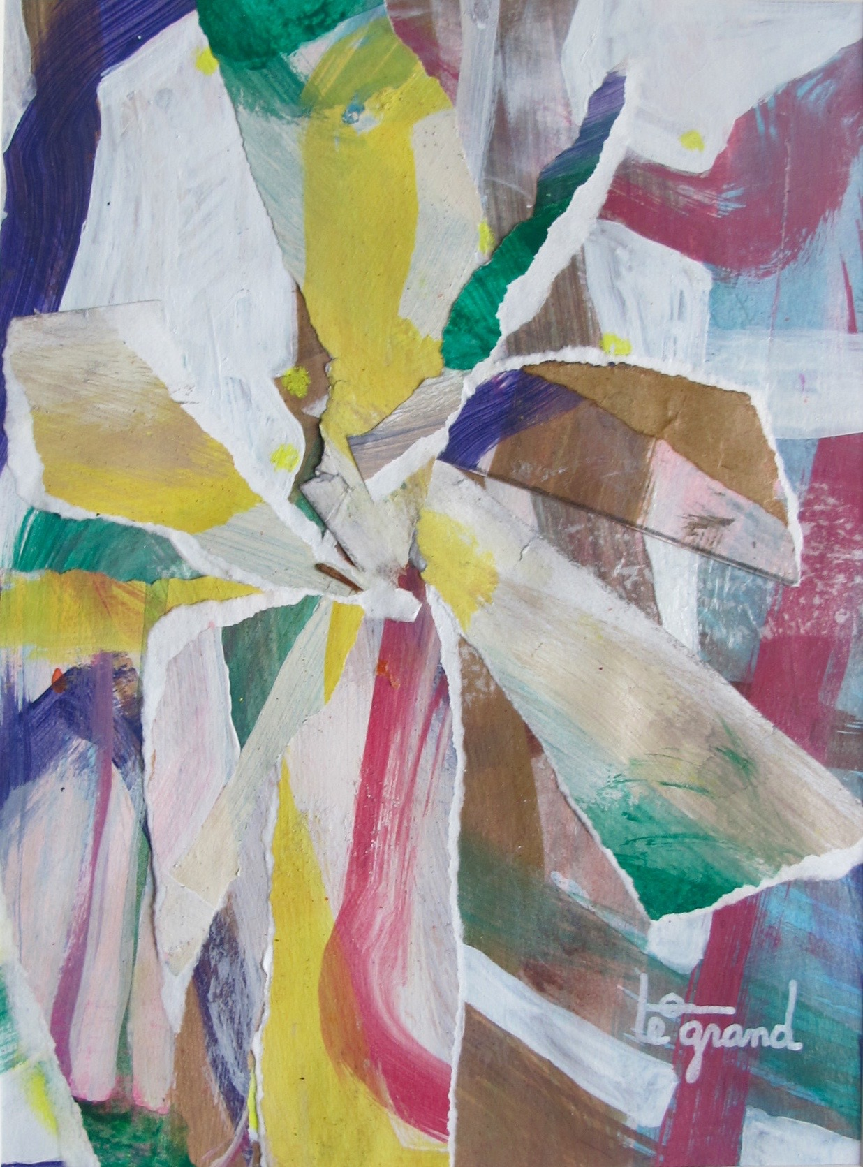 """  flower  "" 20 x 15 cm ,collages"