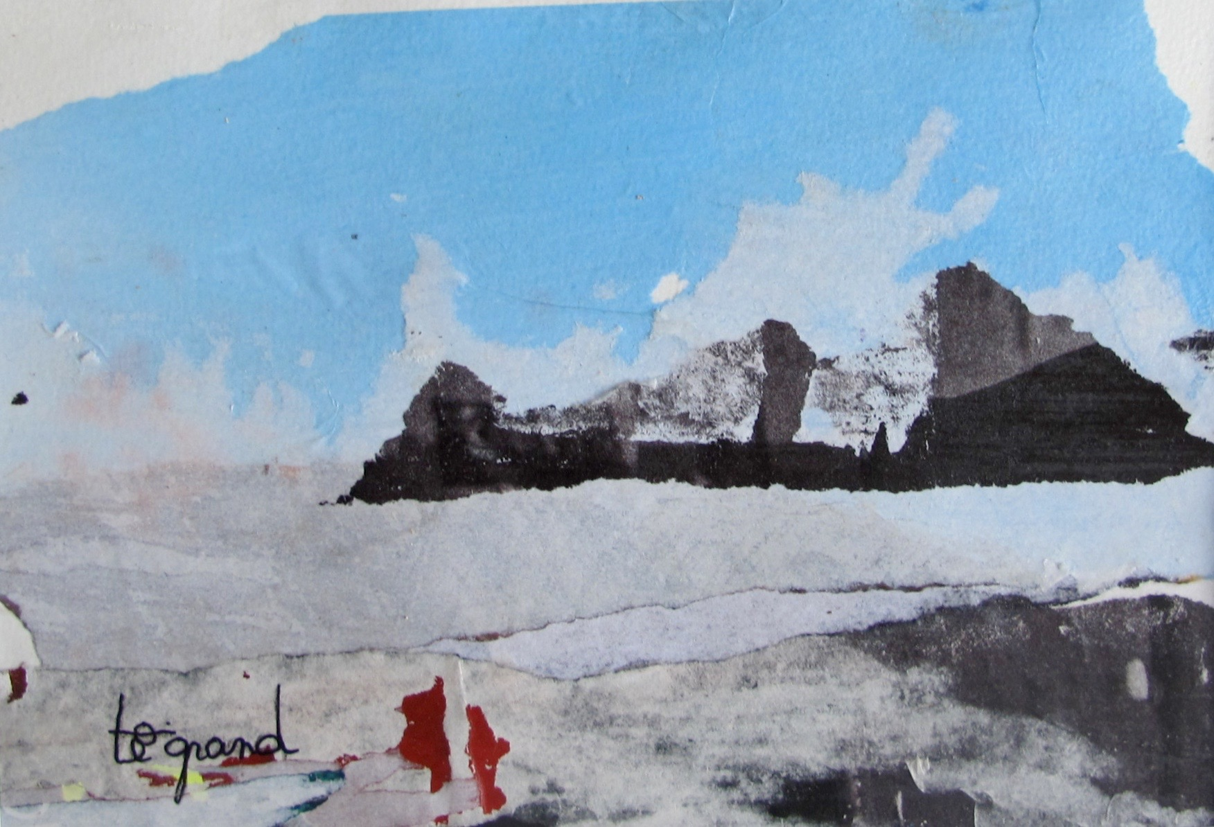 """"""" pole nord """"  20 x 15 cm , collages"""
