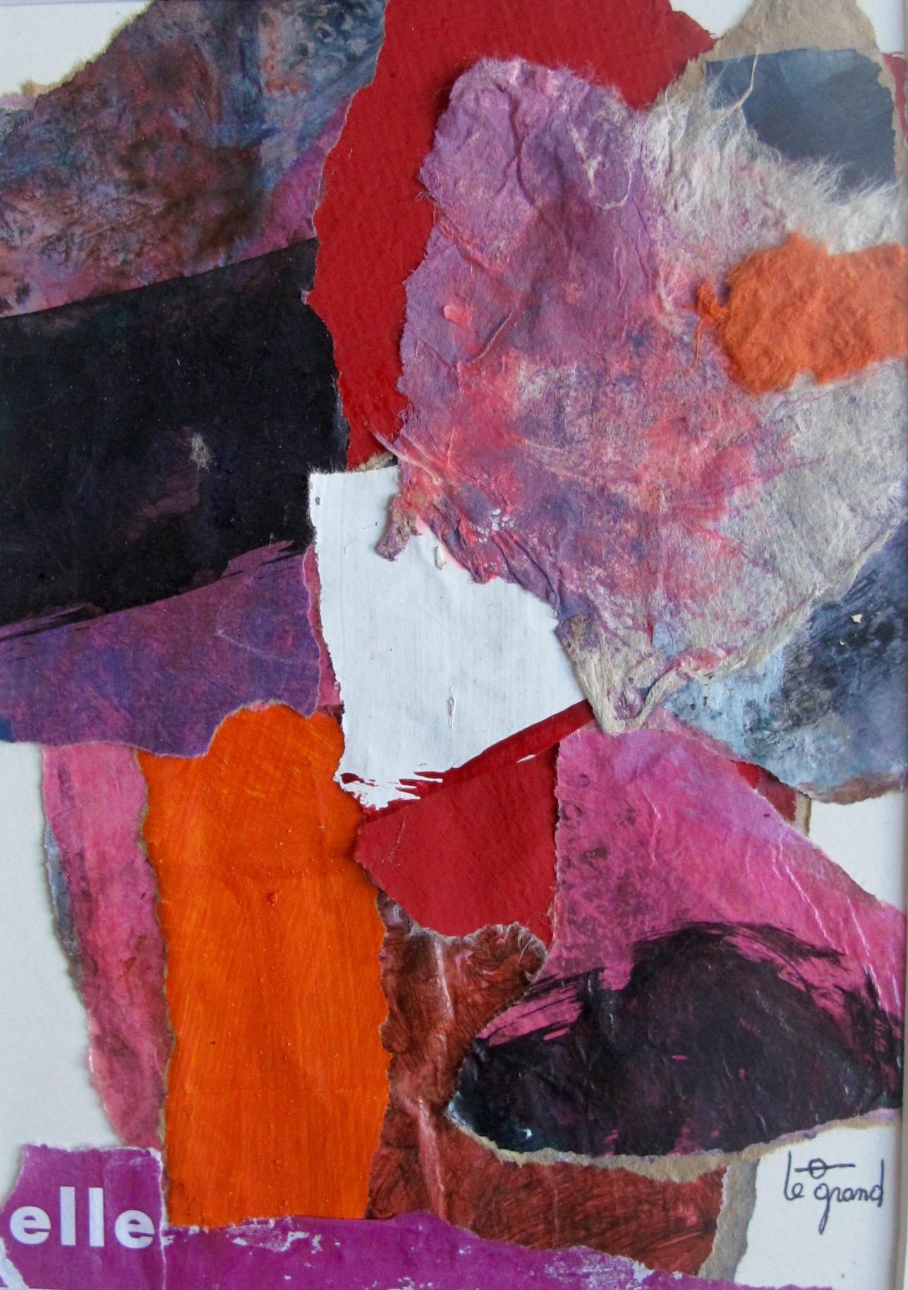 """"""" elle """"  20 x15 cm , collages"""