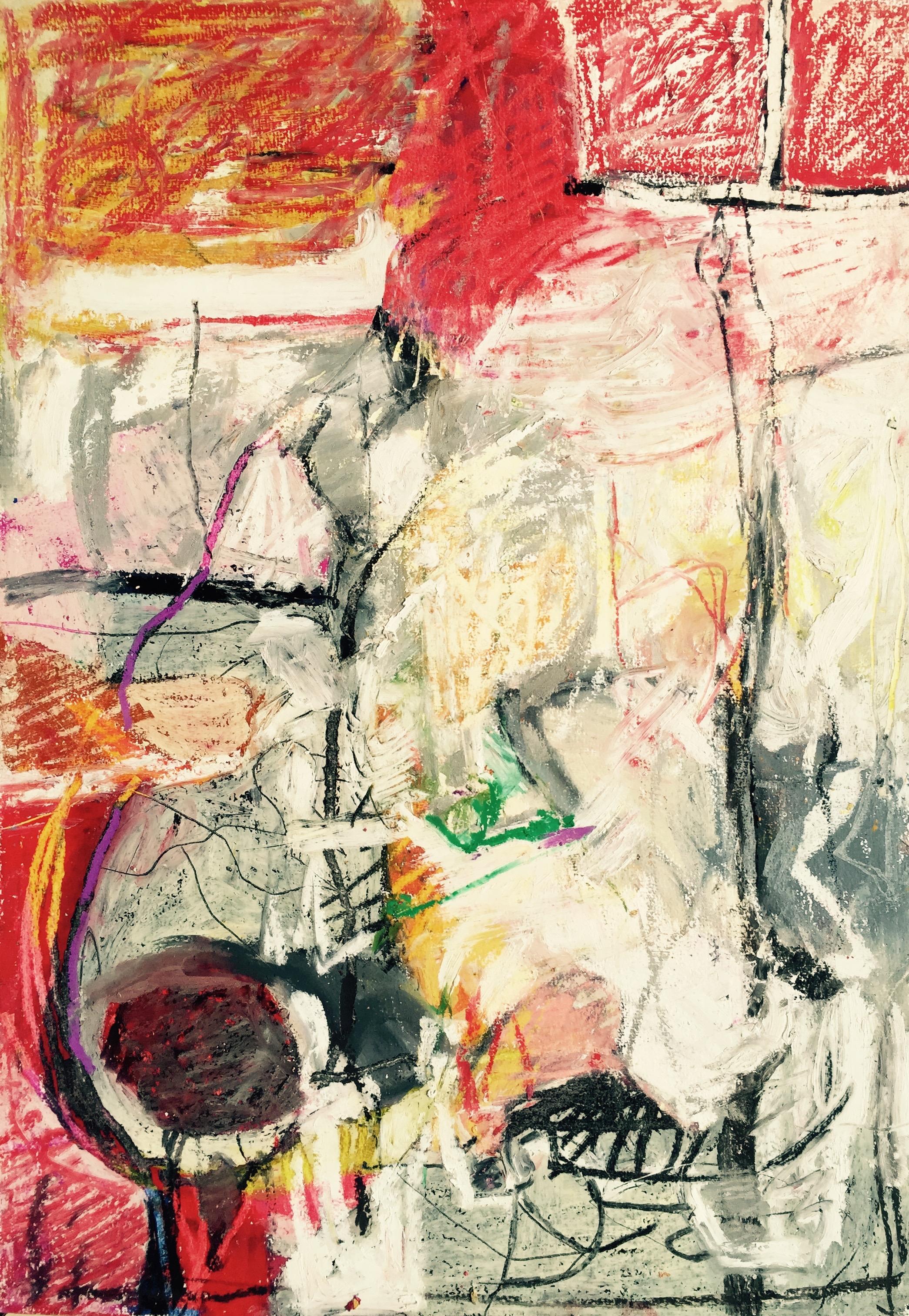 """ vivre ensemble ""  30 x 60 cm , pastel"