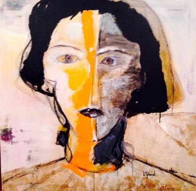 """""""  CHRISTINE  """"  80 x 80 cm  acrylique"""