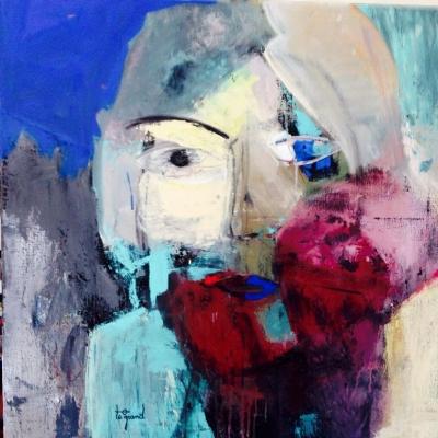 """ NICOLAS ""  80 x 80 cm acrylique"