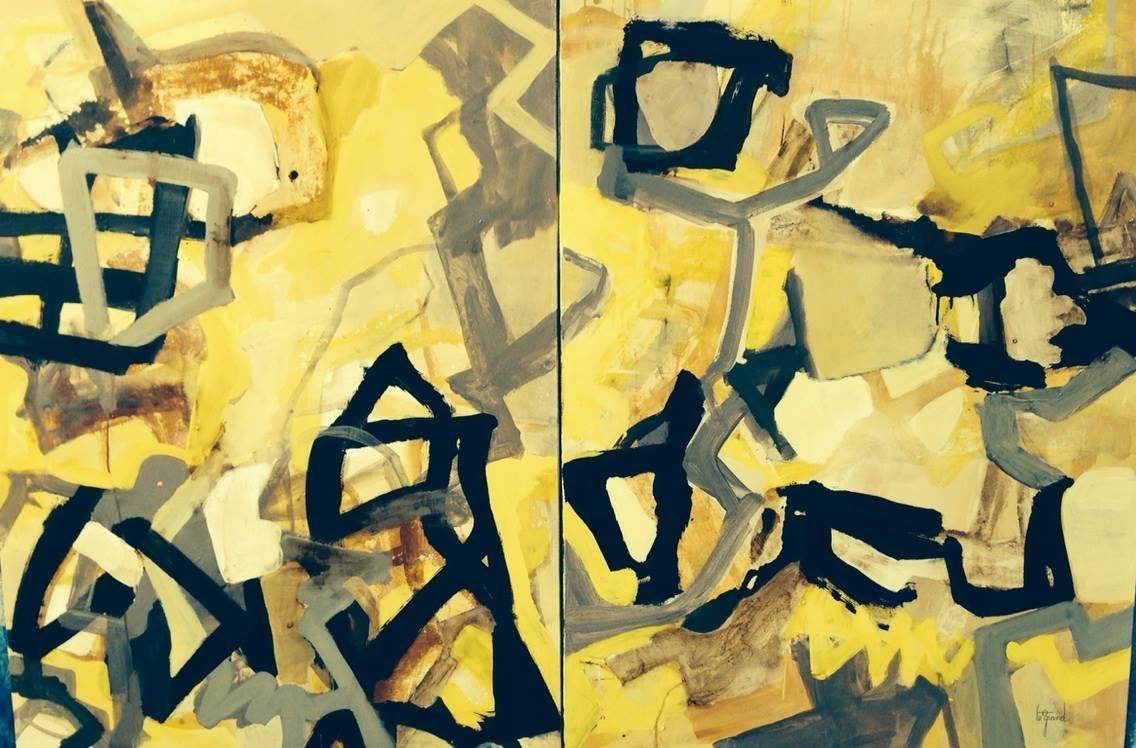 """JAZZIMMO""   130 x 97 cm  ,  Diptyque"