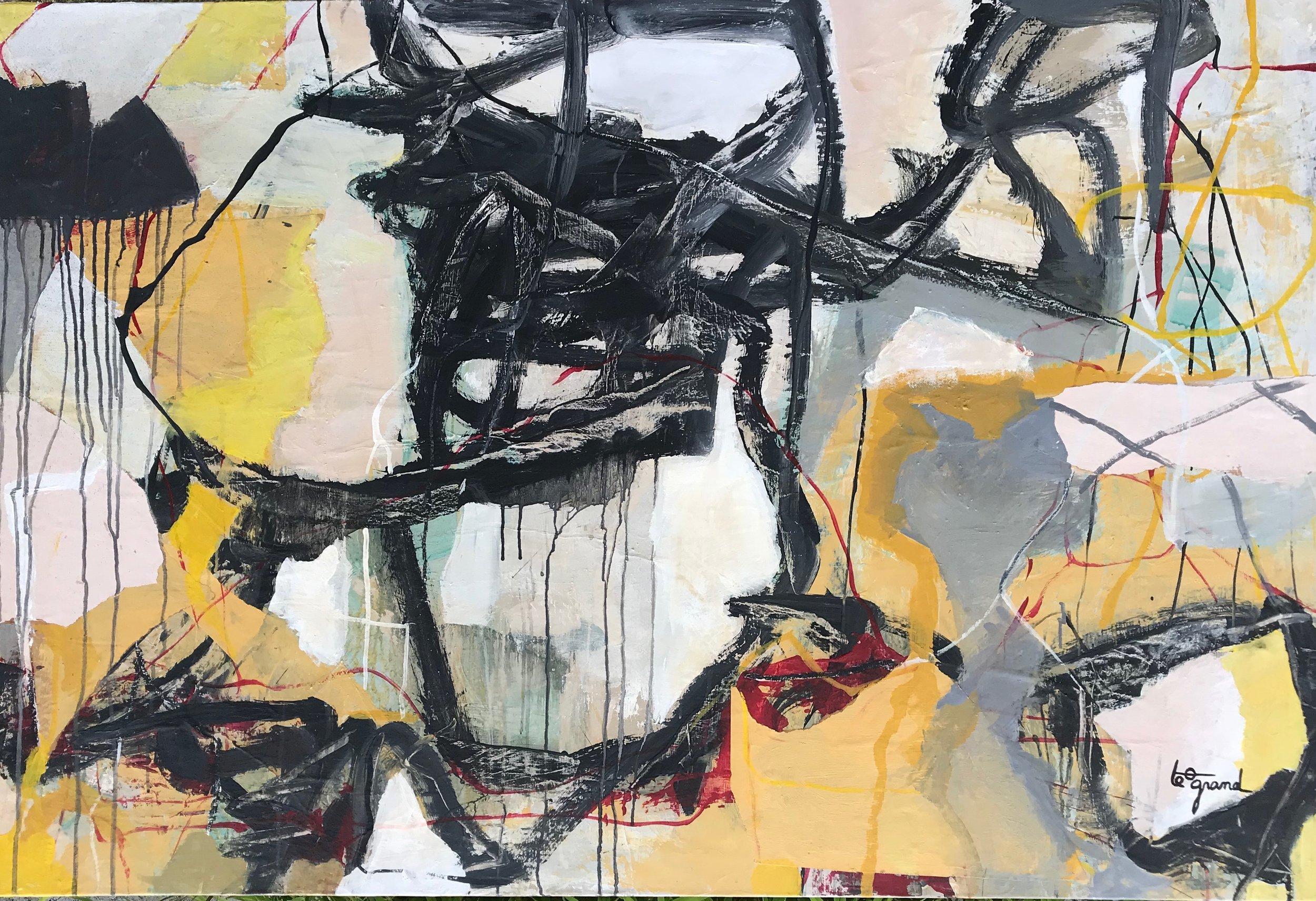 """""""  PETIT BONHEUR """"  130 X 97 cm acrylique"""