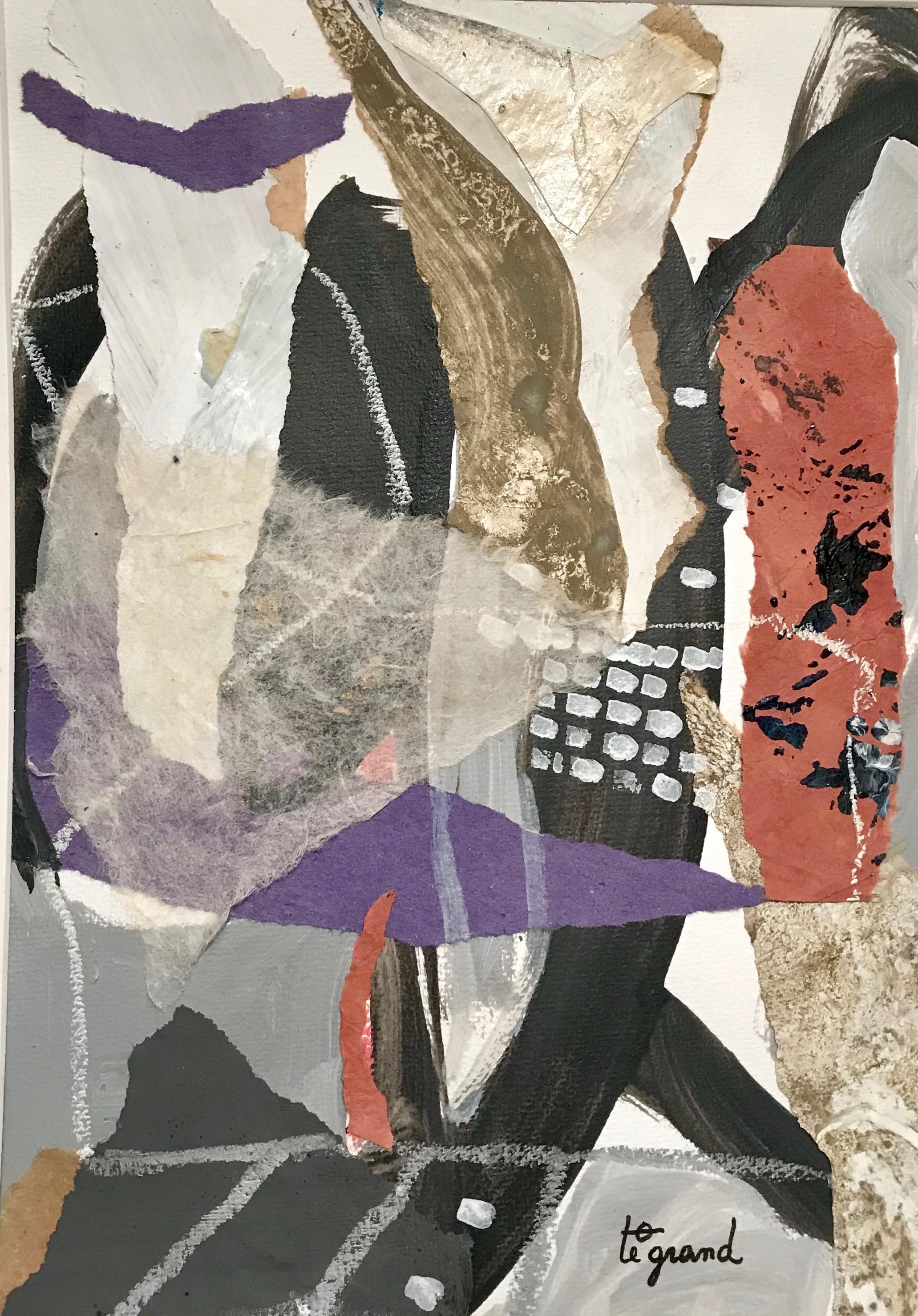 YEU 081  30 X 21 cm   acrylique et collages