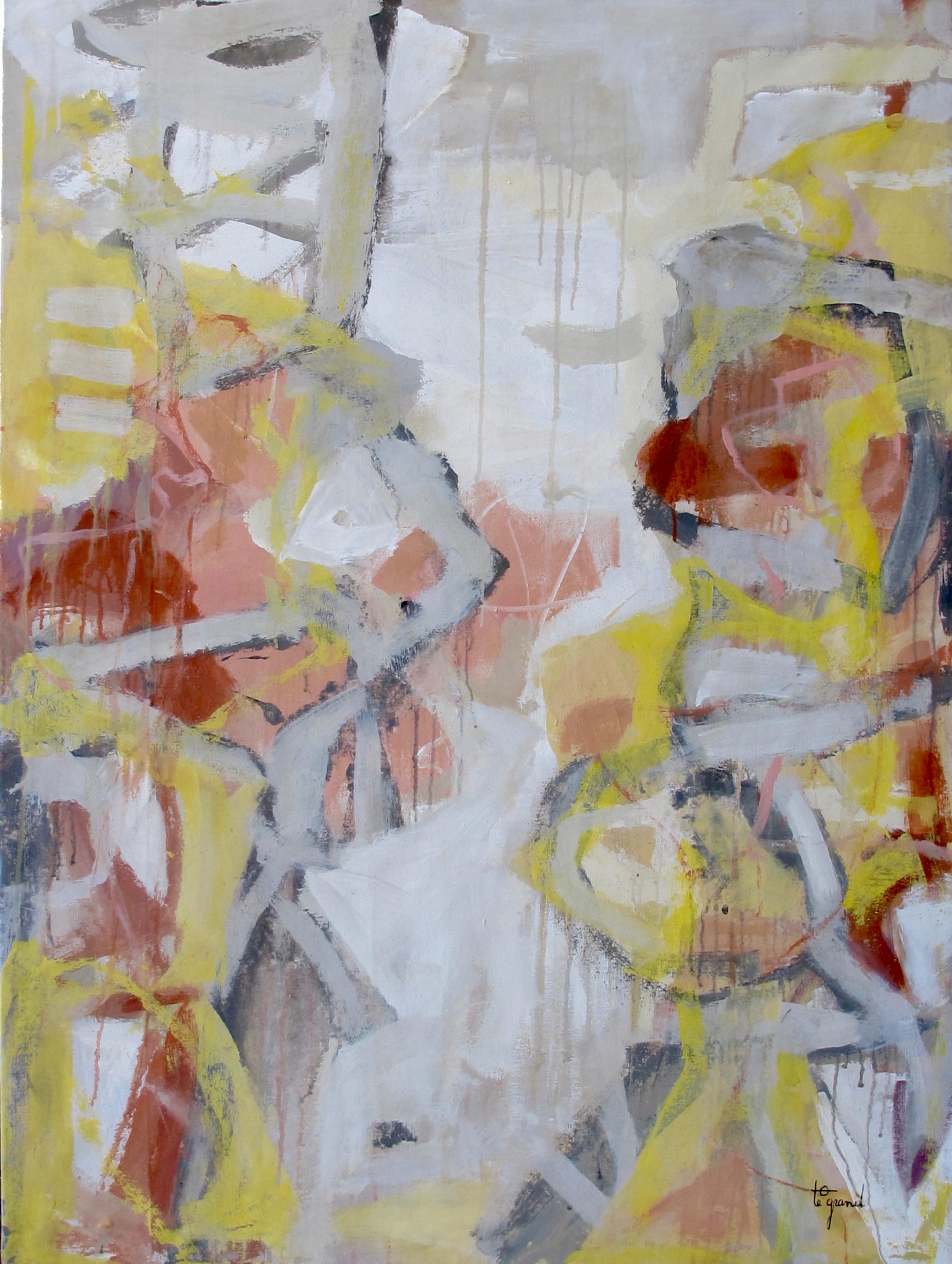""""""" SANS TITRE """"  130 X 87 cm  acrylique"""